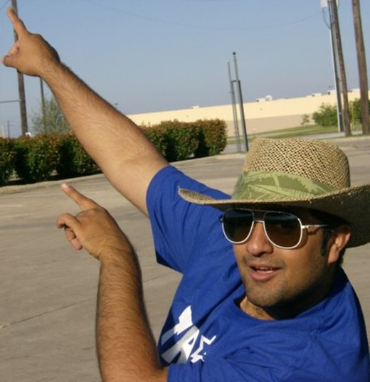 Nabeel from Texas, (USA) with Lacoste 101