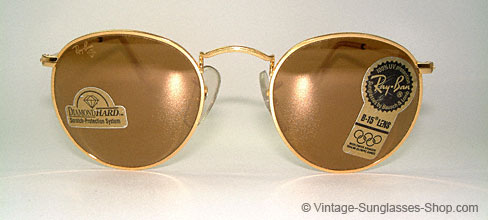 ray ban sonnenbrille rund gold small