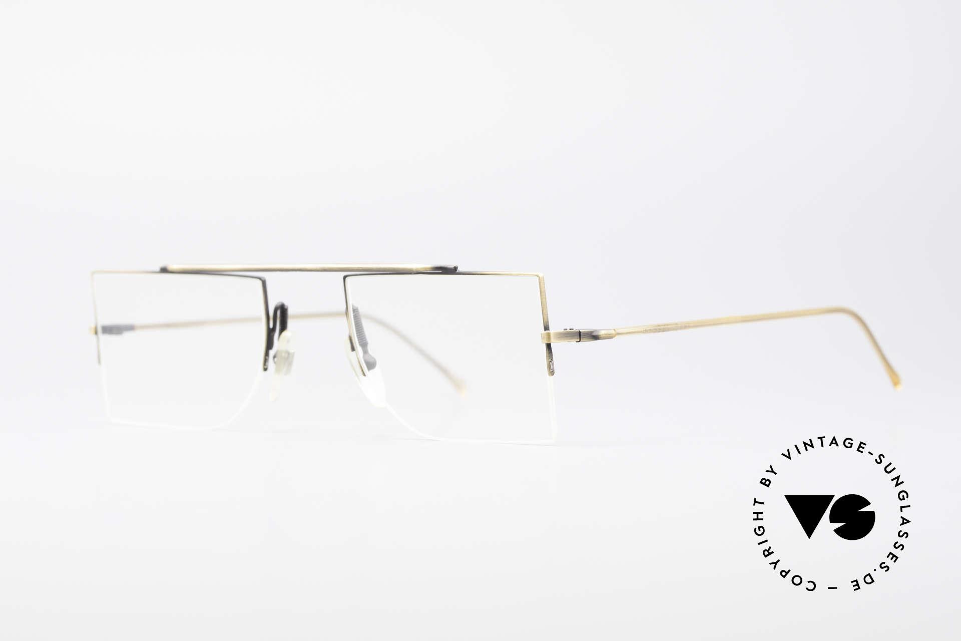 L.A. Eyeworks BURBANK 442 Echte Vintage Brille 90er, minimalistische Konstruktion geometrischer Formen, Passend für Herren und Damen
