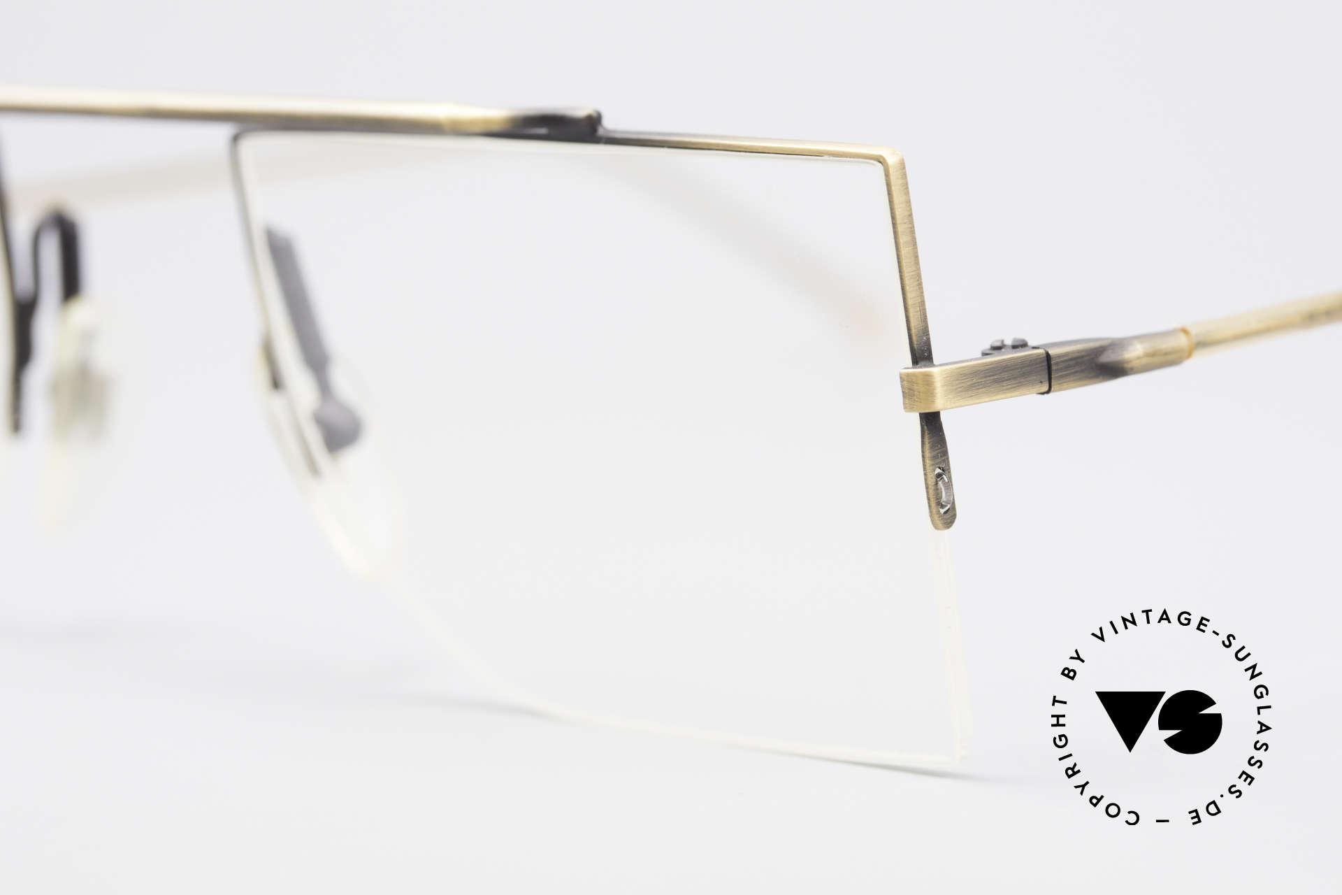 L.A. Eyeworks BURBANK 442 Echte Vintage Brille 90er, zeitlos und puristisch gleichermaßen; ein Klassiker!, Passend für Herren und Damen