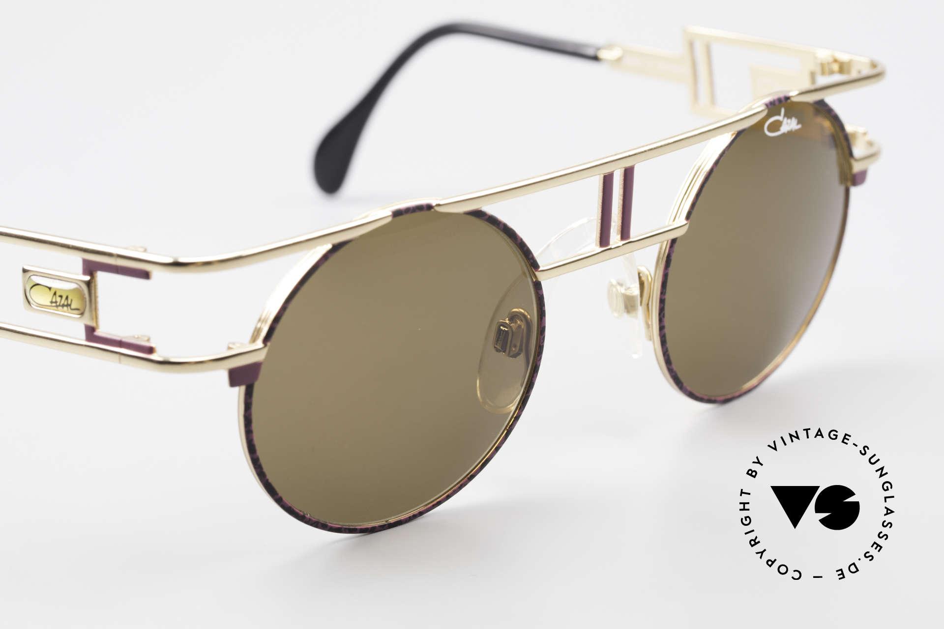 Cazal 958 90er Eurythmics Sonnenbrille, braune Cazal Sonnengläser für 100% UV Protection, Passend für Herren und Damen