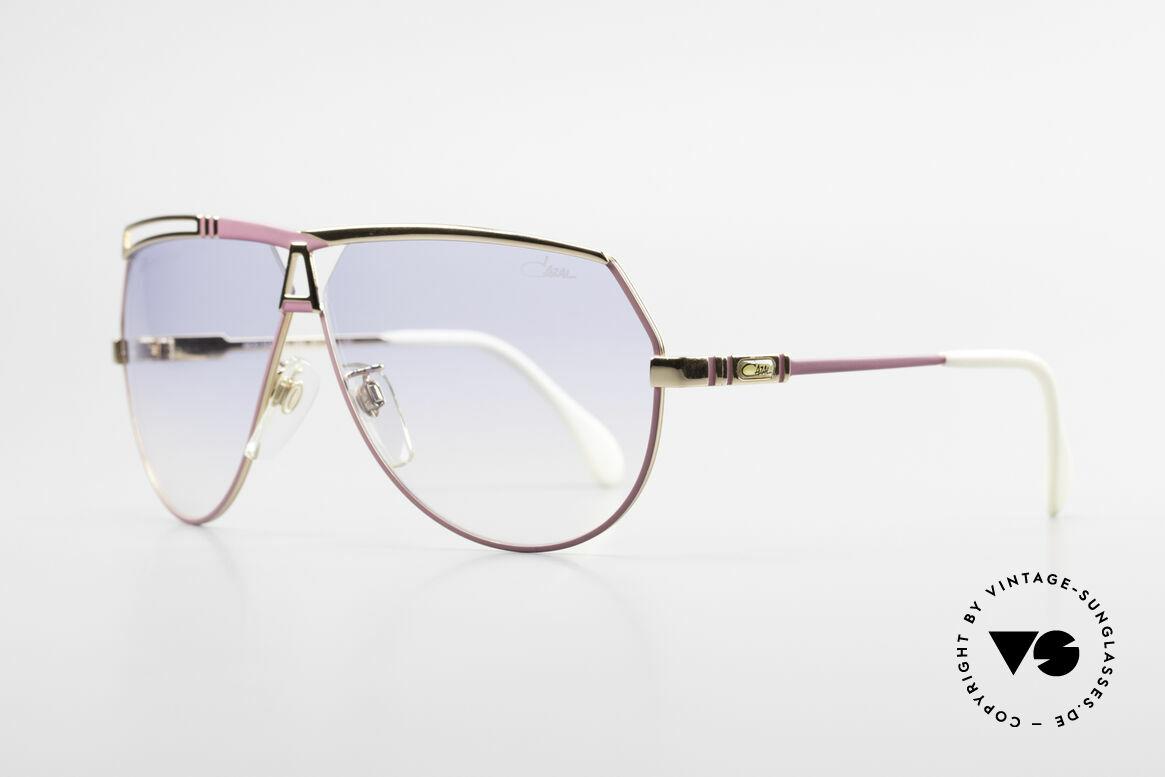 Cazal 954 Oversized XXL Sonnenbrille, Pilotenform mit großen Gläsern & toller Farbgestaltung, Passend für Damen
