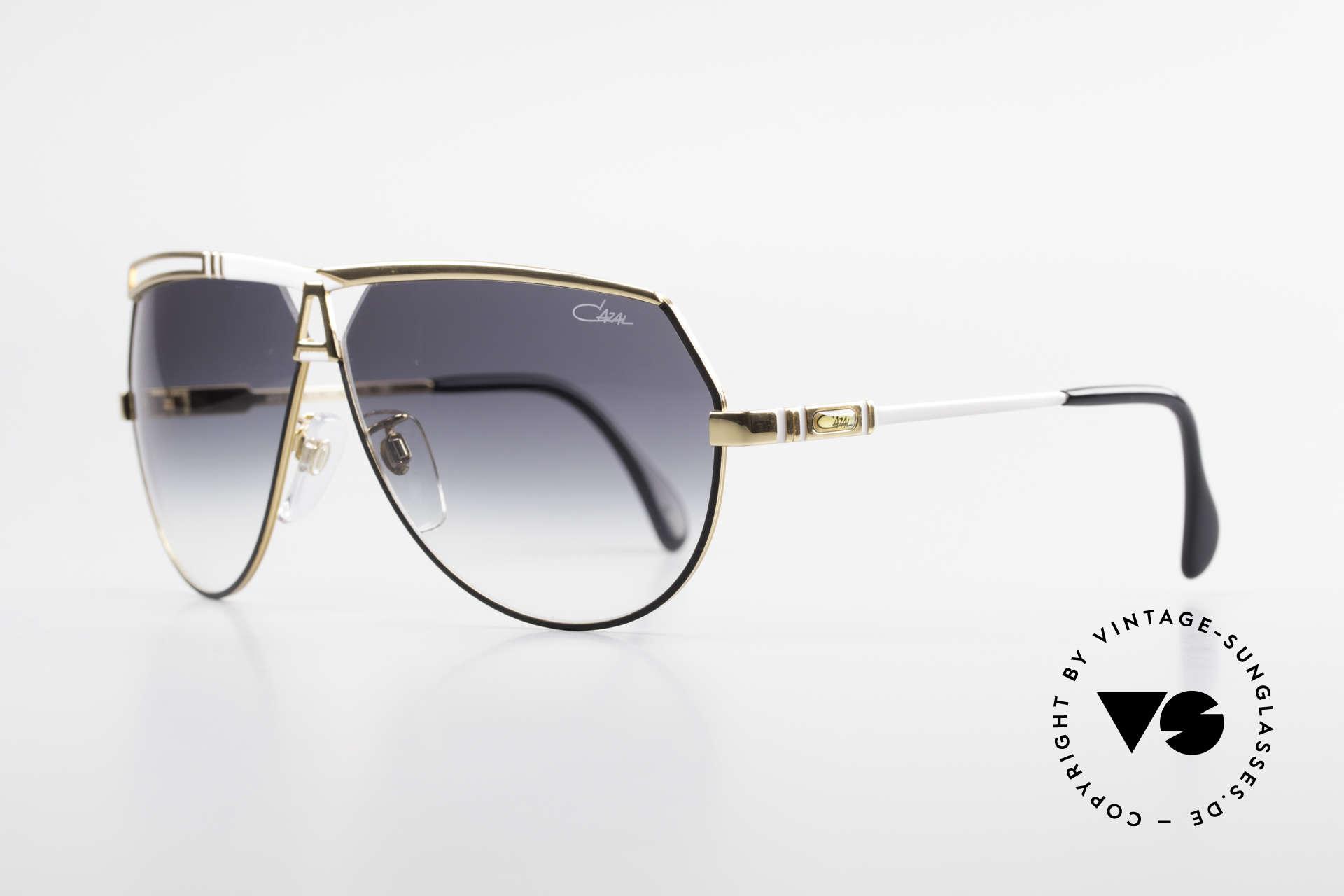 Cazal 954 Vintage Designer Sonnenbrille, Pilotenform mit großen Gläsern & toller Farbgestaltung, Passend für Herren und Damen