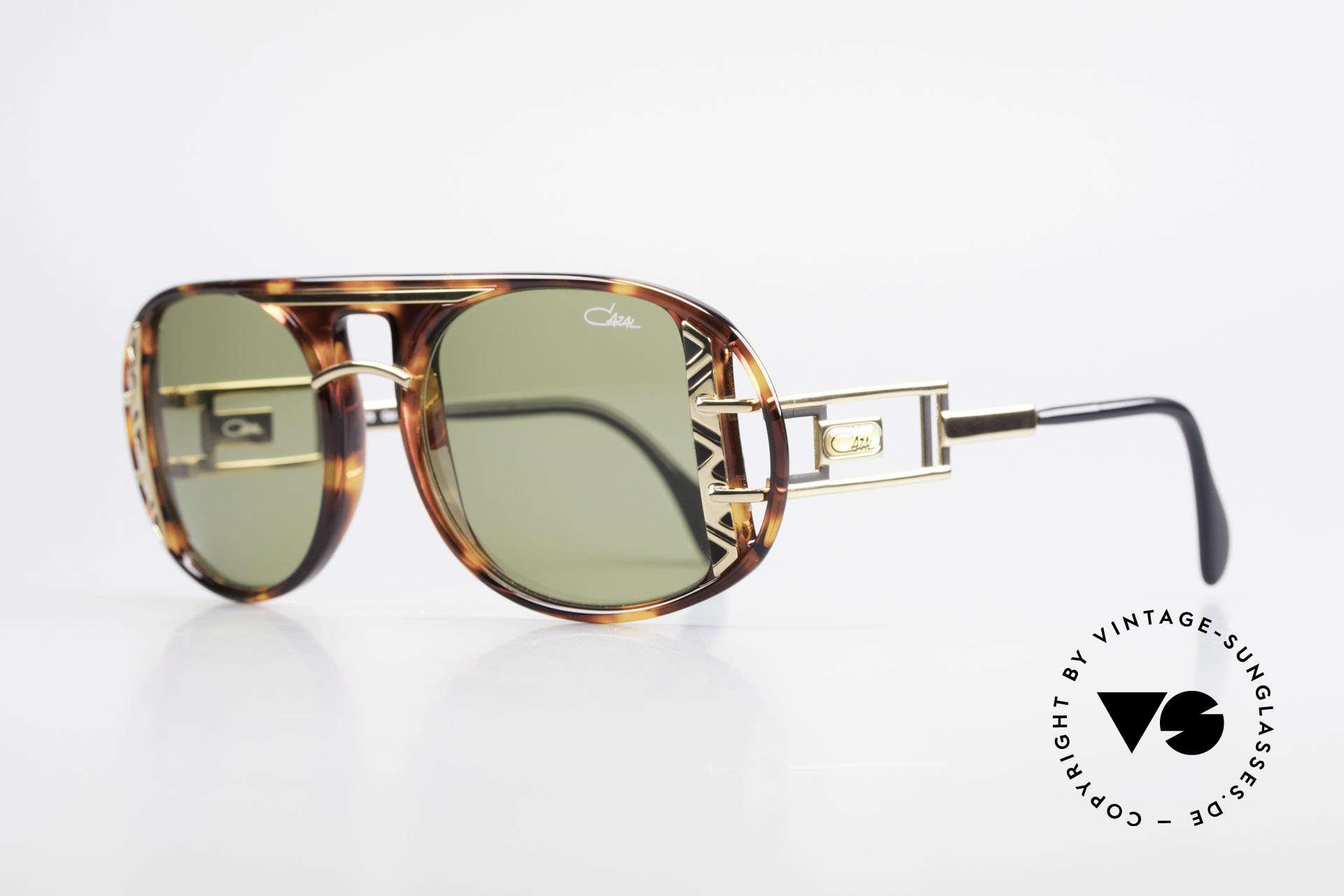 Cazal 875 90er Designer Sonnenbrille, einzigartige Fassung in aufwendiger Farbgestaltung, Passend für Herren und Damen