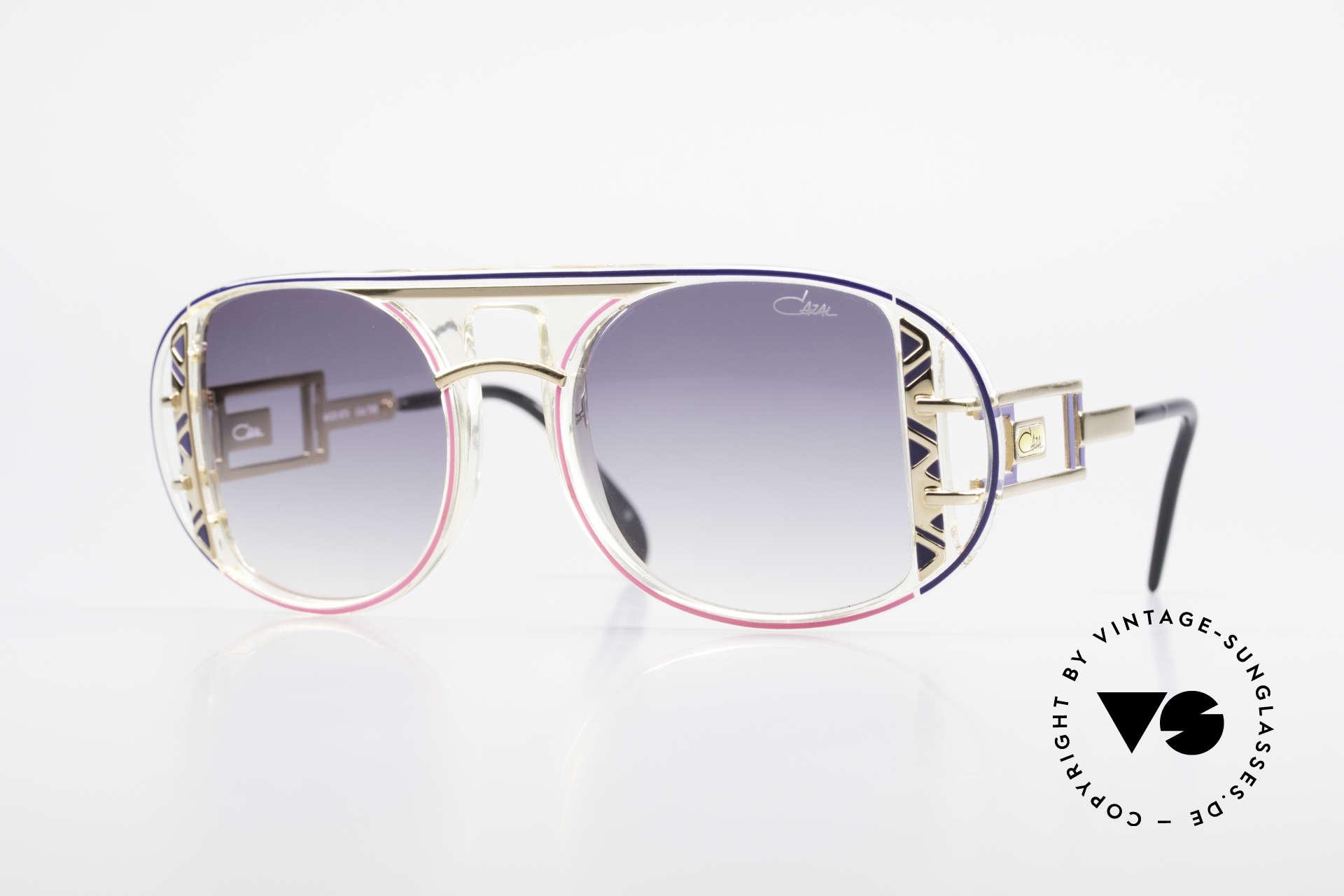 Cazal 875 Rare Designer Sonnenbrille, von Design-Papst - Cari Zalloni (CAZAL) entworfen, Passend für Herren und Damen