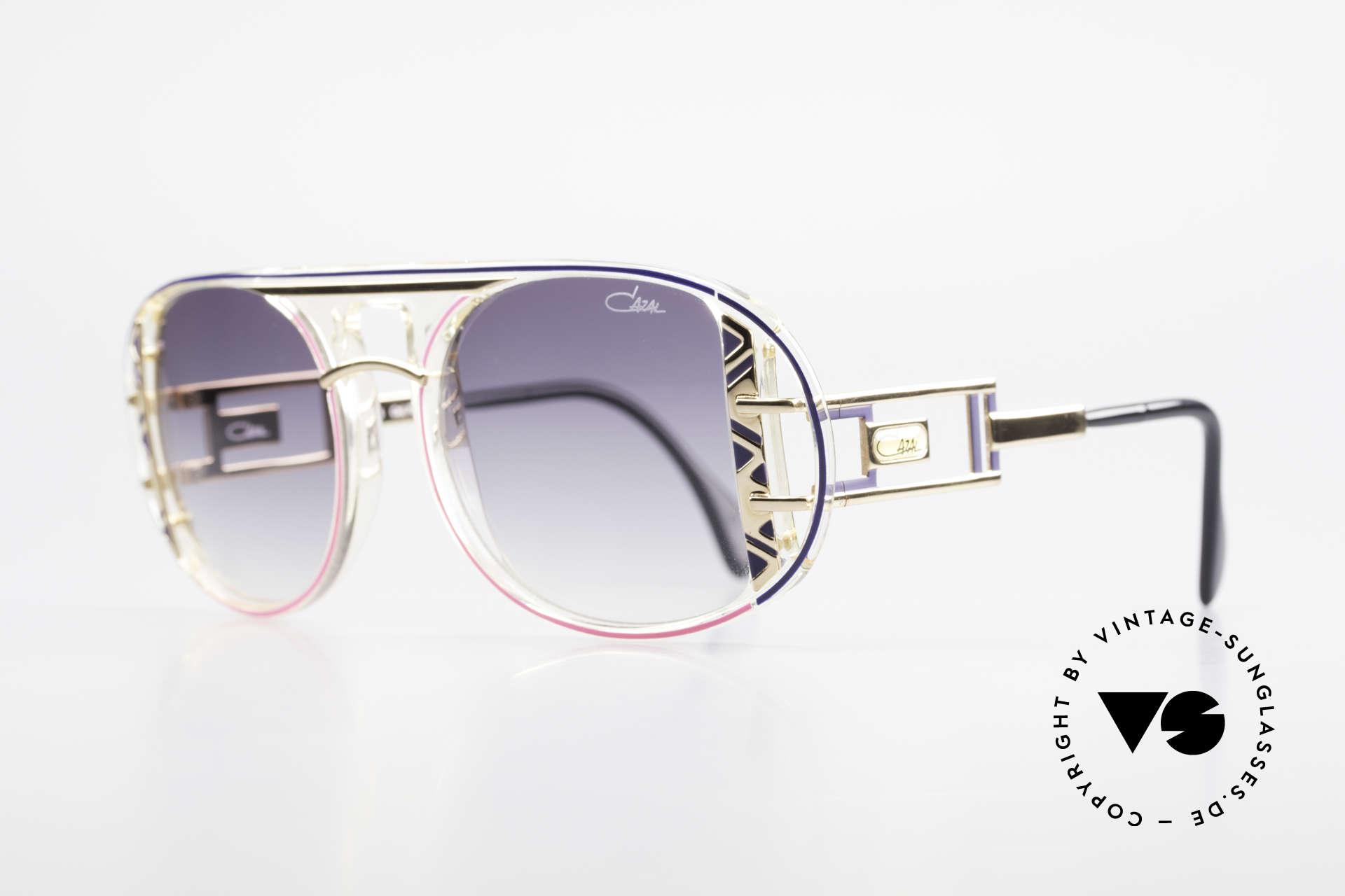 Cazal 875 Rare Designer Sonnenbrille, einzigartige Fassung in aufwendiger Farbgestaltung, Passend für Herren und Damen