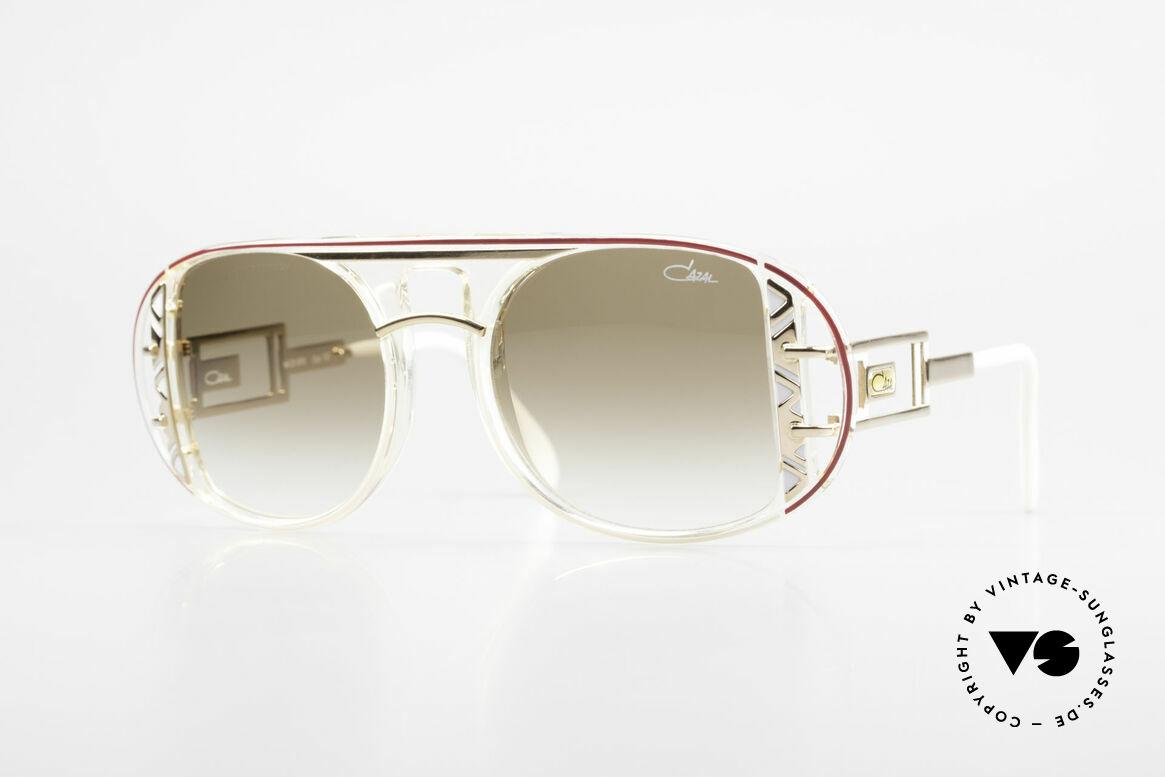 Cazal 875 Hip Hop Unisex Sonnenbrille, spektakuläre Designer-Sonnenbrille von 1992/1993, Passend für Herren und Damen