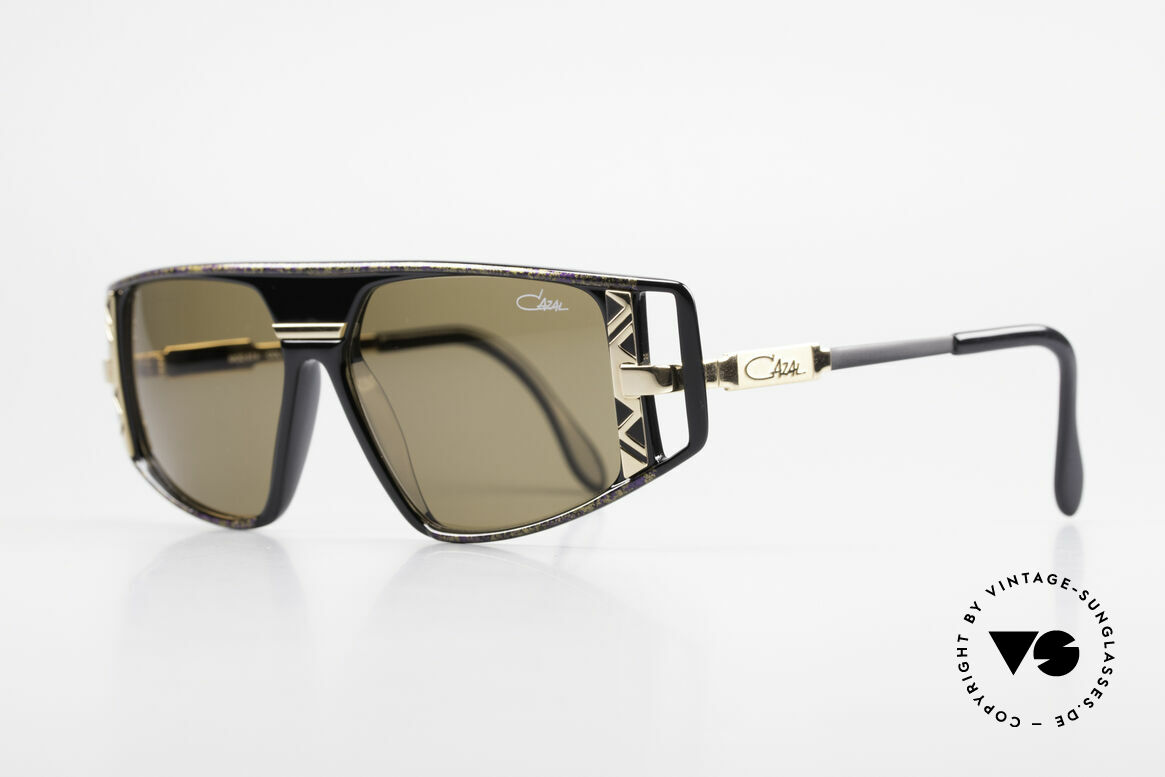 Cazal 874 Legendäre 90er Sonnenbrille, enorm viele Design-Details (unverwechselbar Cazal), Passend für Herren und Damen