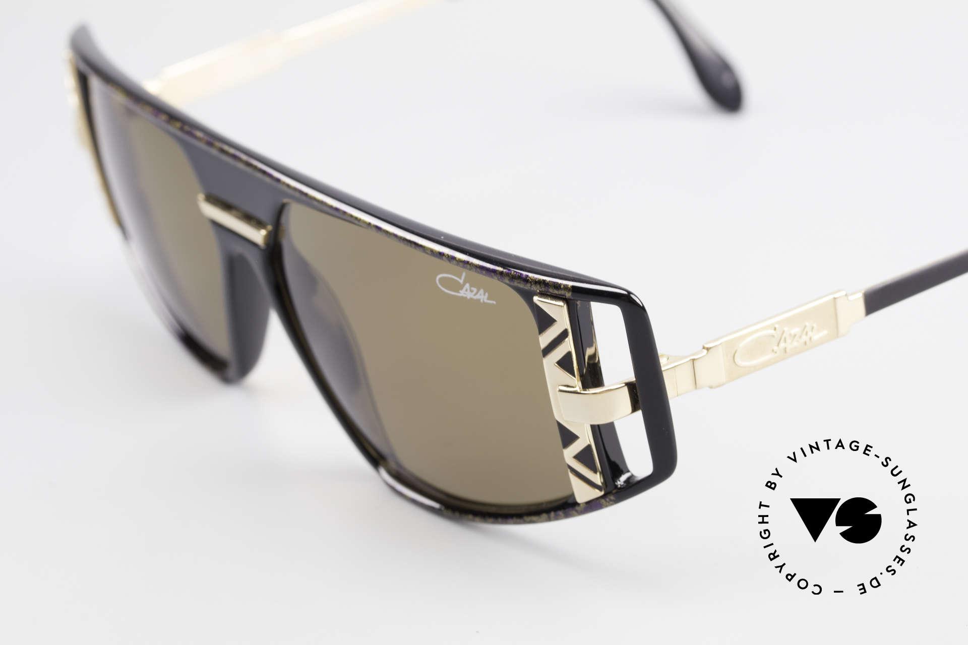 Cazal 874 Legendäre 90er Sonnenbrille, getragen von Lady Gaga (MTV-Interview 12 / 2009), Passend für Herren und Damen