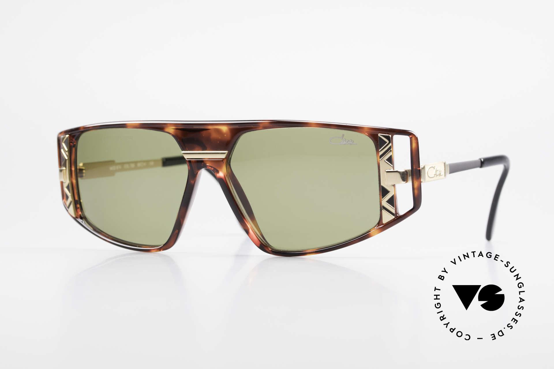 Cazal 874 1990er Unisex Designerbrille, spektakuläre Kombination von Farben und Formen, Passend für Herren und Damen