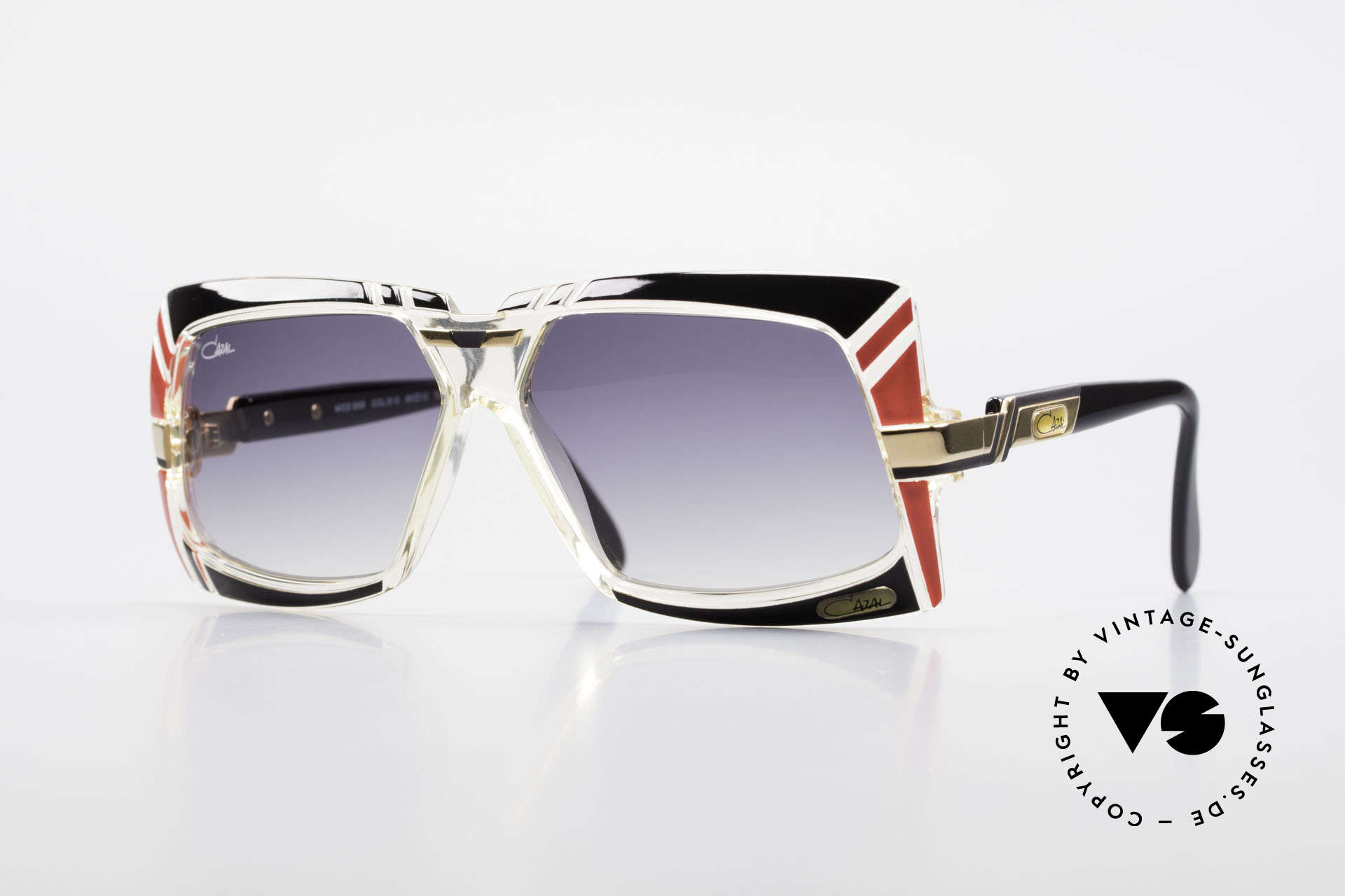 Cazal 869 80er True Vintage Sonnenbrille, außergewöhnliche Designer-Sonnenbrille von 1989/90, Passend für Herren und Damen