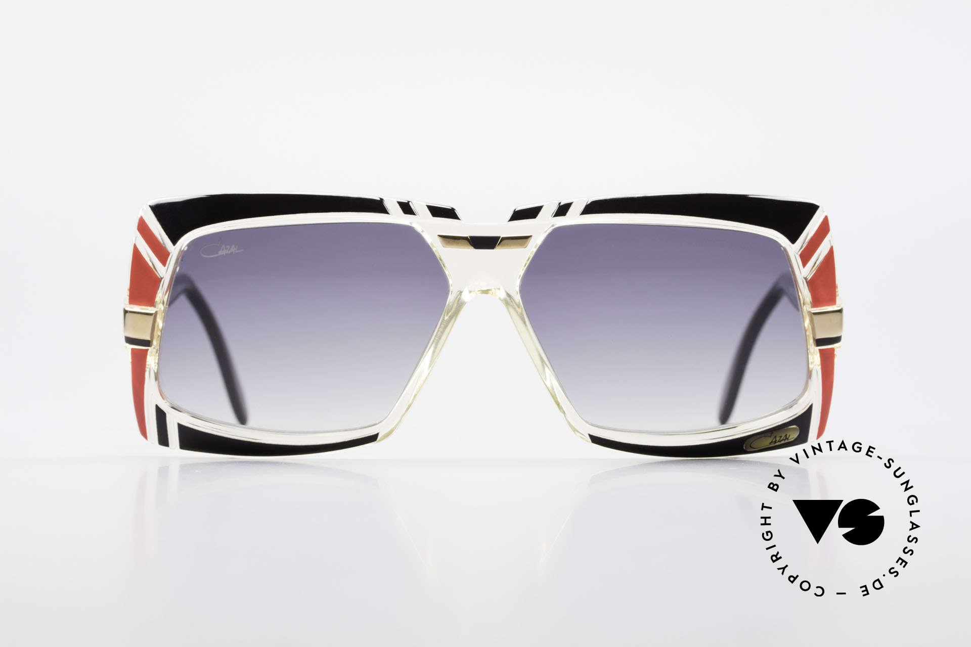 Cazal 869 80er True Vintage Sonnenbrille, geniale Kombination aus Formen, Farben & Materialien, Passend für Herren und Damen