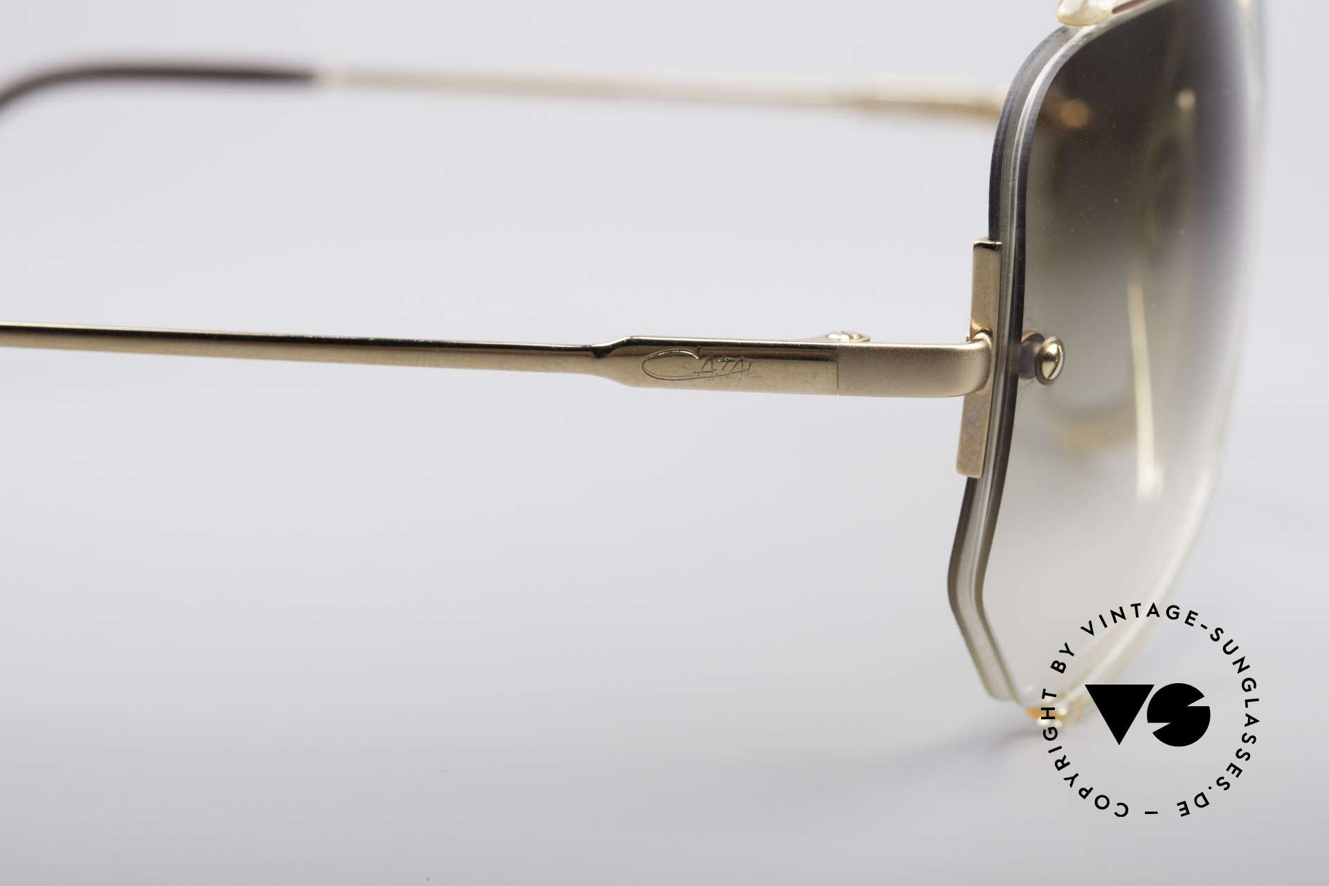 Cazal 850 Old School 80er Sonnenbrille, ungetragenes Einzelstück (inkl. Hartetui von Cazal), Passend für Herren