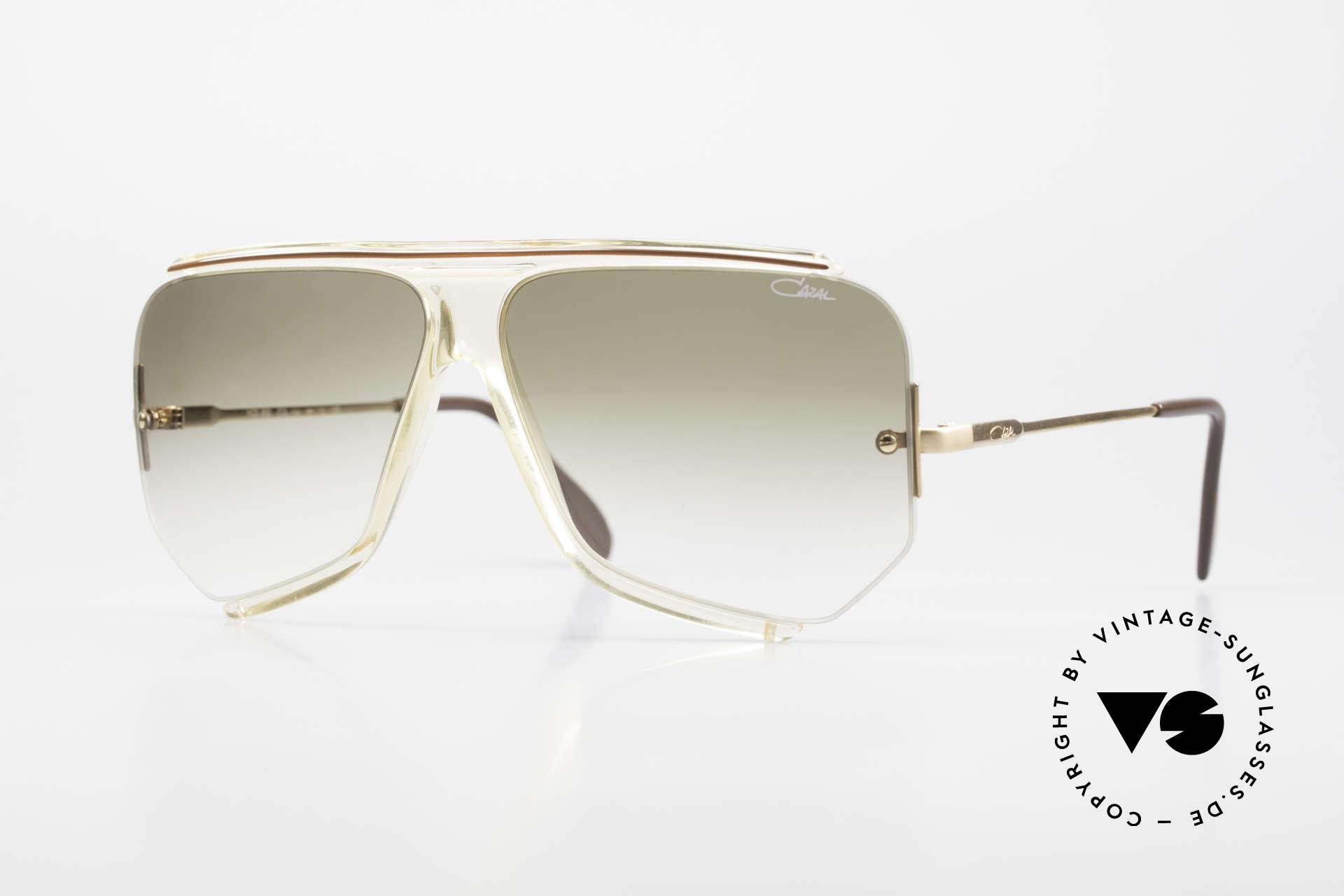 Cazal 850 Old School 80er Sonnenbrille, elegantes Original aus den 1980ern - OLD SCHOOL, Passend für Herren