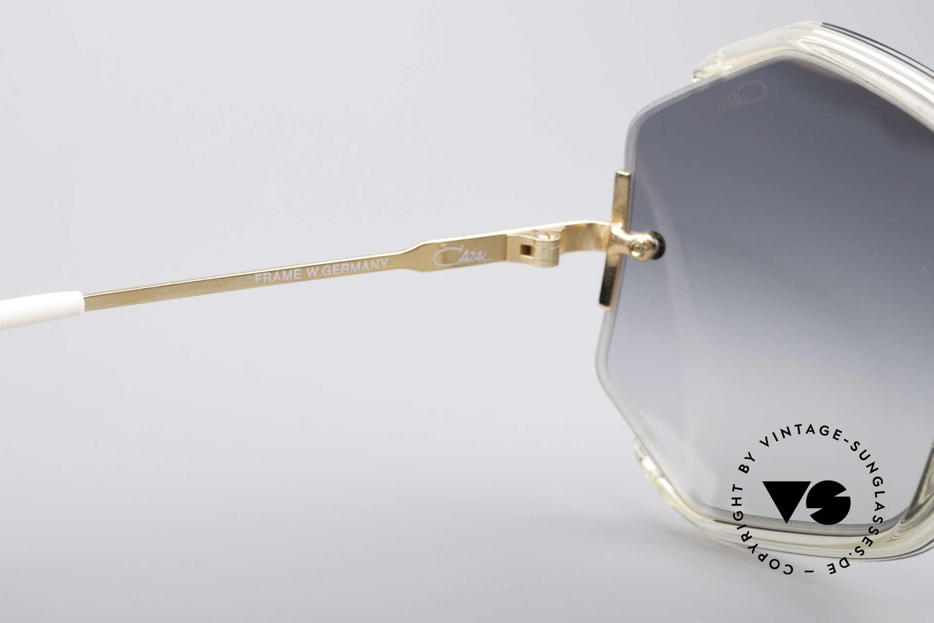 Cazal 852 Riesige 80er Vintage Brille, eine wundervolle Designer-Sonnenbrille für Damen, Passend für Damen