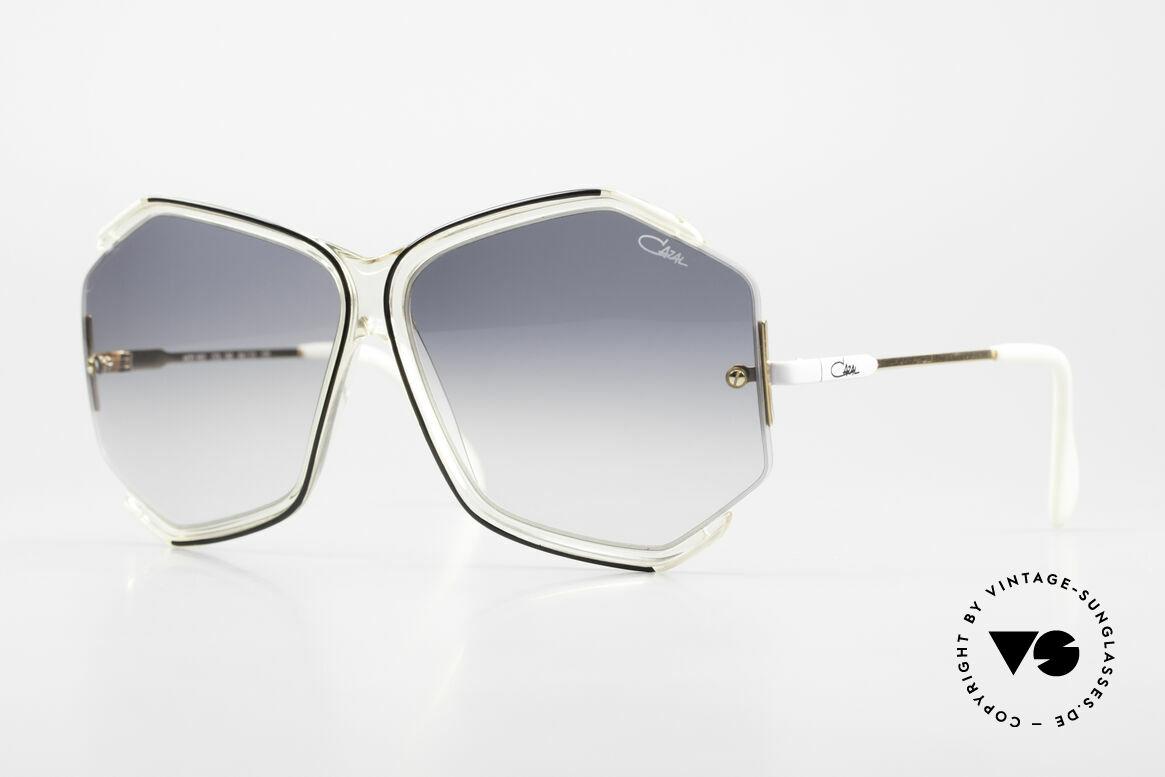 Cazal 852 Riesige 80er Vintage Brille, originelle CAZAL Oversized-Sonnenbrille von 1986, Passend für Damen