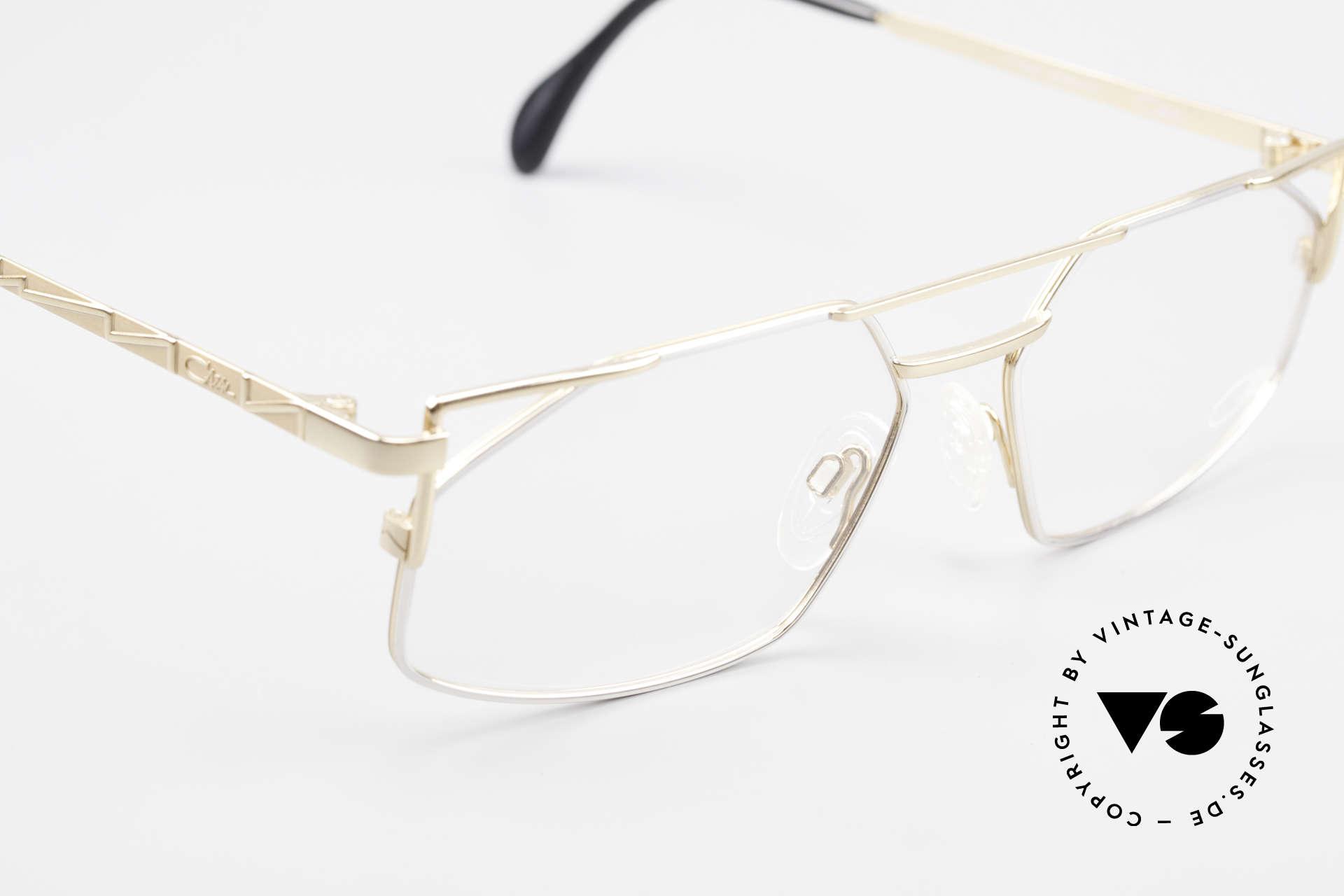 Cazal 751 Eckige Alte 90er Designerbrille, ungetragenes Exemplar in Größe 58-16, 140 (LARGE), Passend für Herren
