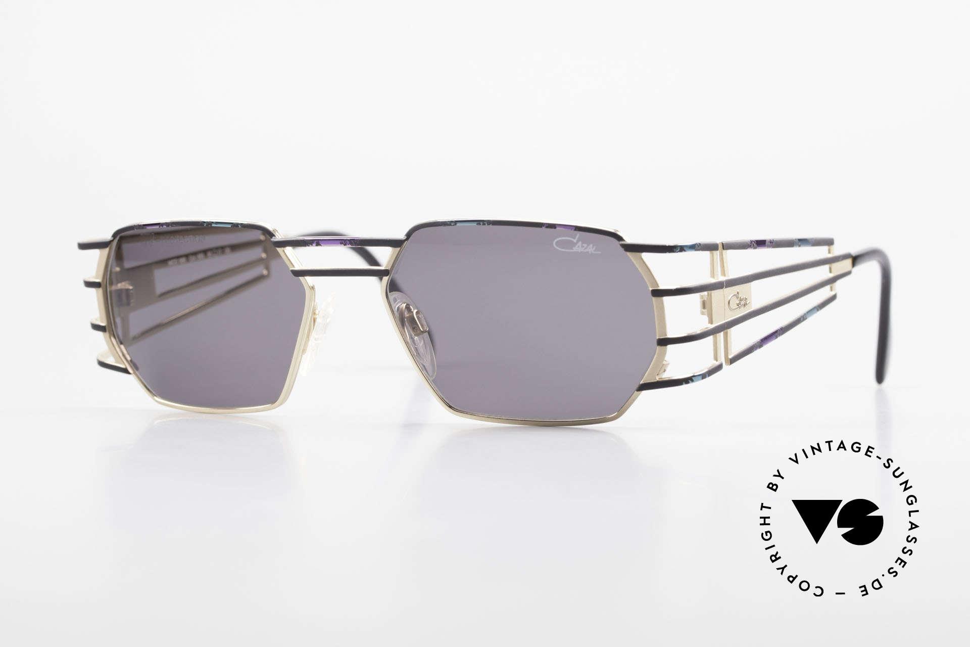Cazal 980 Markante Vintage Sonnenbrille, futuristische vintage CAZAL Designer-Sonnenbrille, Passend für Herren und Damen