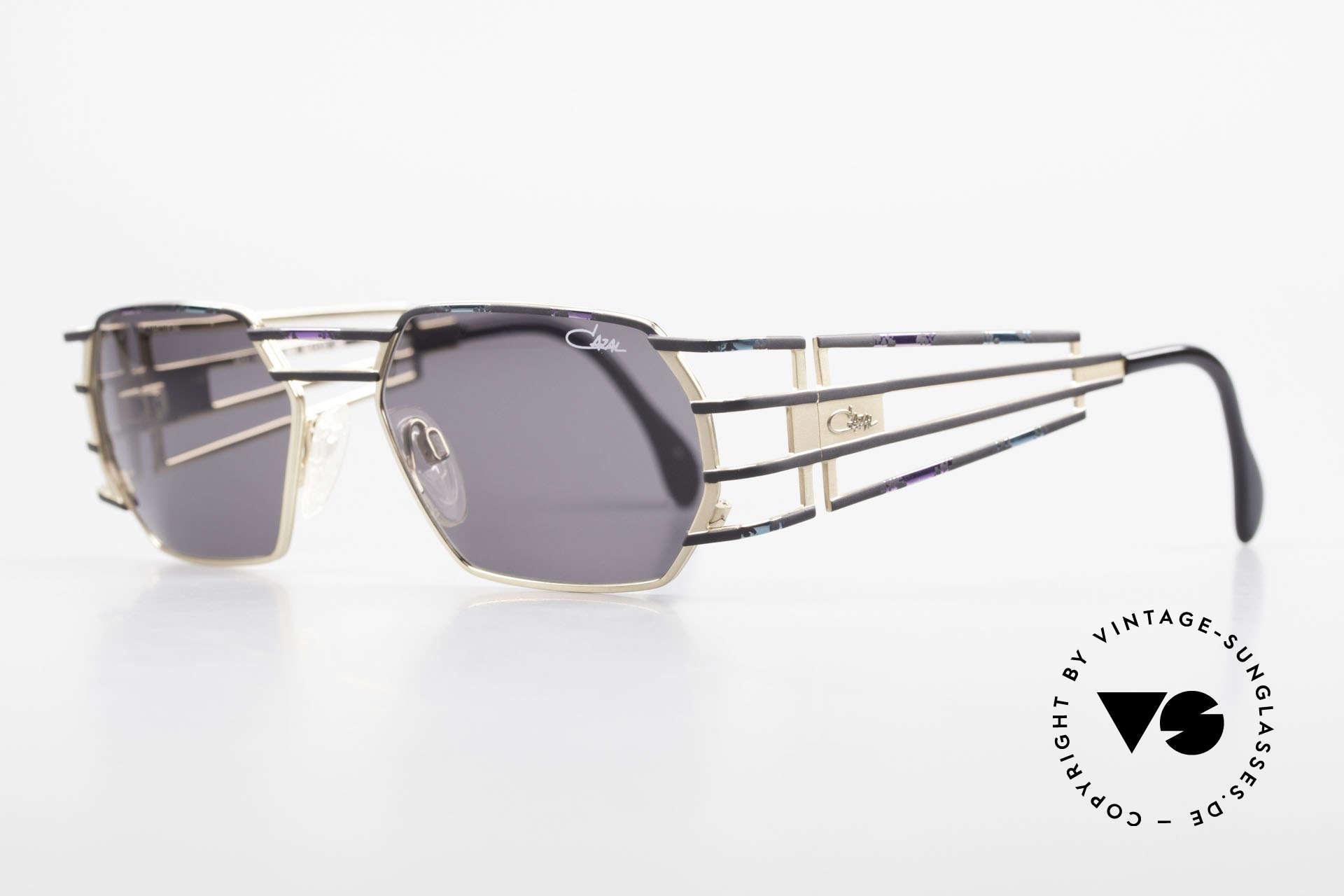 Cazal 980 Markante Vintage Sonnenbrille, exquisite Verarbeitungsqualität (made in Germany), Passend für Herren und Damen