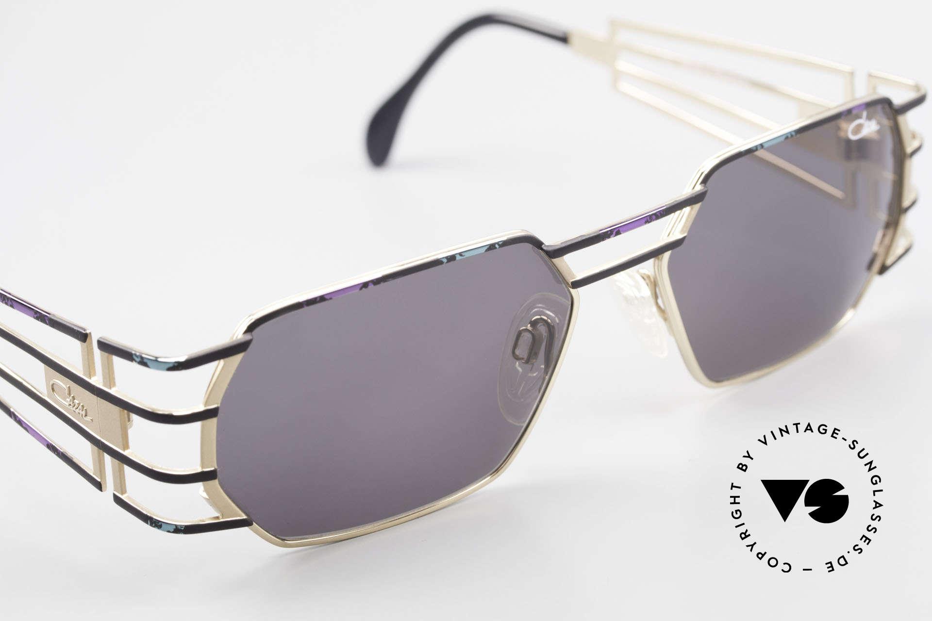 Cazal 980 Markante Vintage Sonnenbrille, mit original Cazal Sonnengläsern (100% UV Schutz), Passend für Herren und Damen