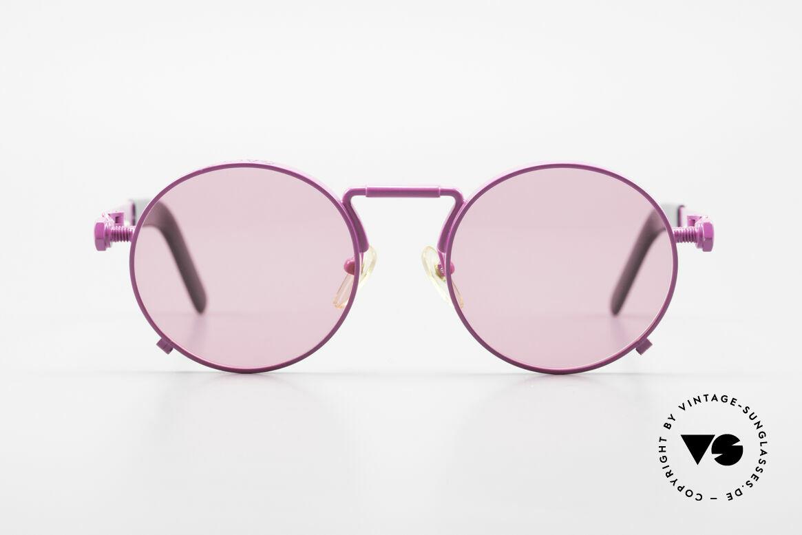 Jean Paul Gaultier 56-8171 Sonderanfertigung in Pink, äußerst hochwertige und detailreiche Brillenfassung, Passend für Herren und Damen