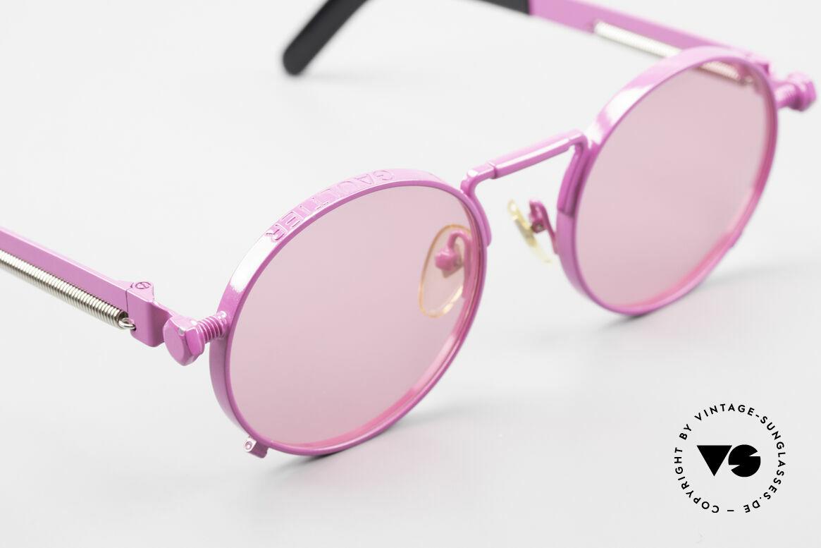 Jean Paul Gaultier 56-8171 Sonderanfertigung in Pink, das erste Modell der Gaultier Brillen-Serie überhaupt, Passend für Herren und Damen