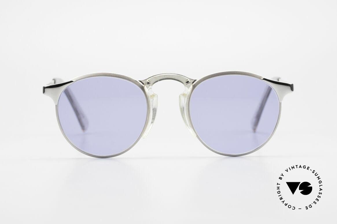 Jean Paul Gaultier 57-0174 Rare 90er Panto Sonnenbrille, klassische Pantoform veredelt als Designerstück, Passend für Herren