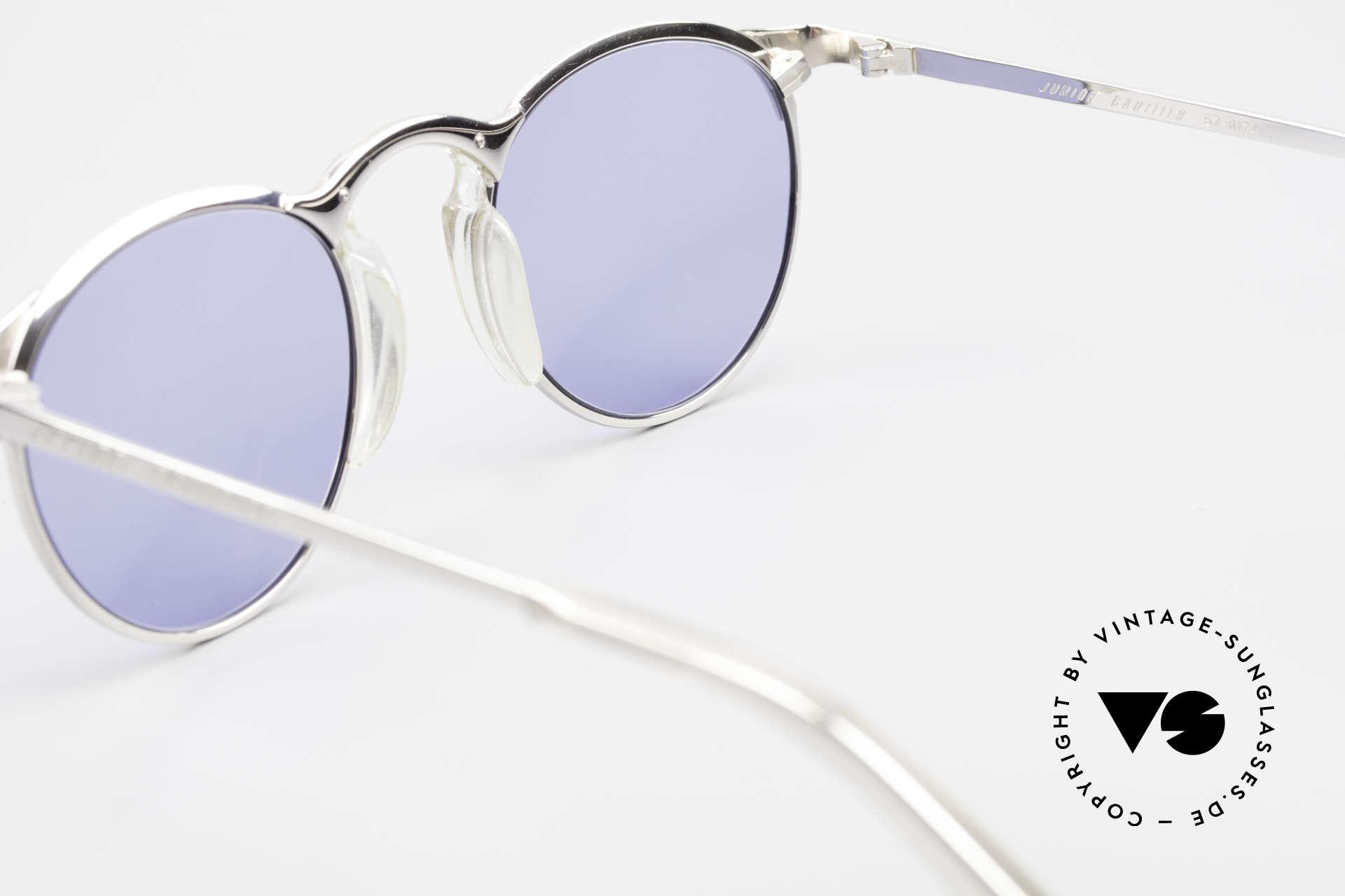 Jean Paul Gaultier 57-0174 Rare 90er Panto Sonnenbrille, Fassung (Gr. 48-21) kann beliebig verglast werden, Passend für Herren