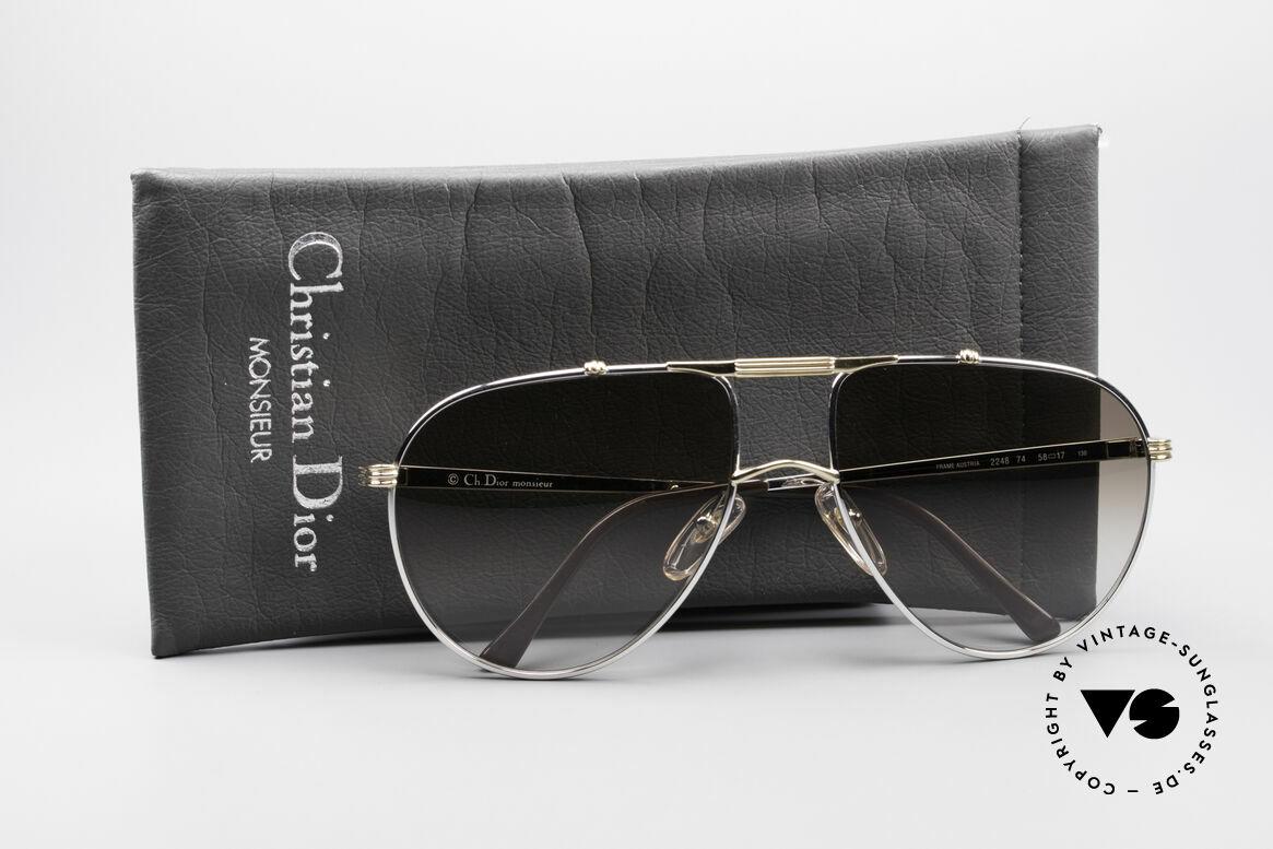 Christian Dior 2248 Large 80er Aviator Sonnenbrille
