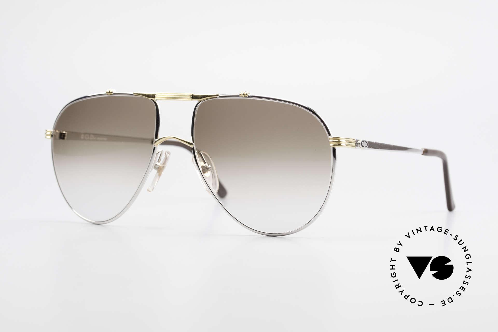 Christian Dior 2248 Large 80er Aviator Sonnenbrille, Christian Dior Sonnenbrille aus der Monsieur-Serie, Passend für Herren