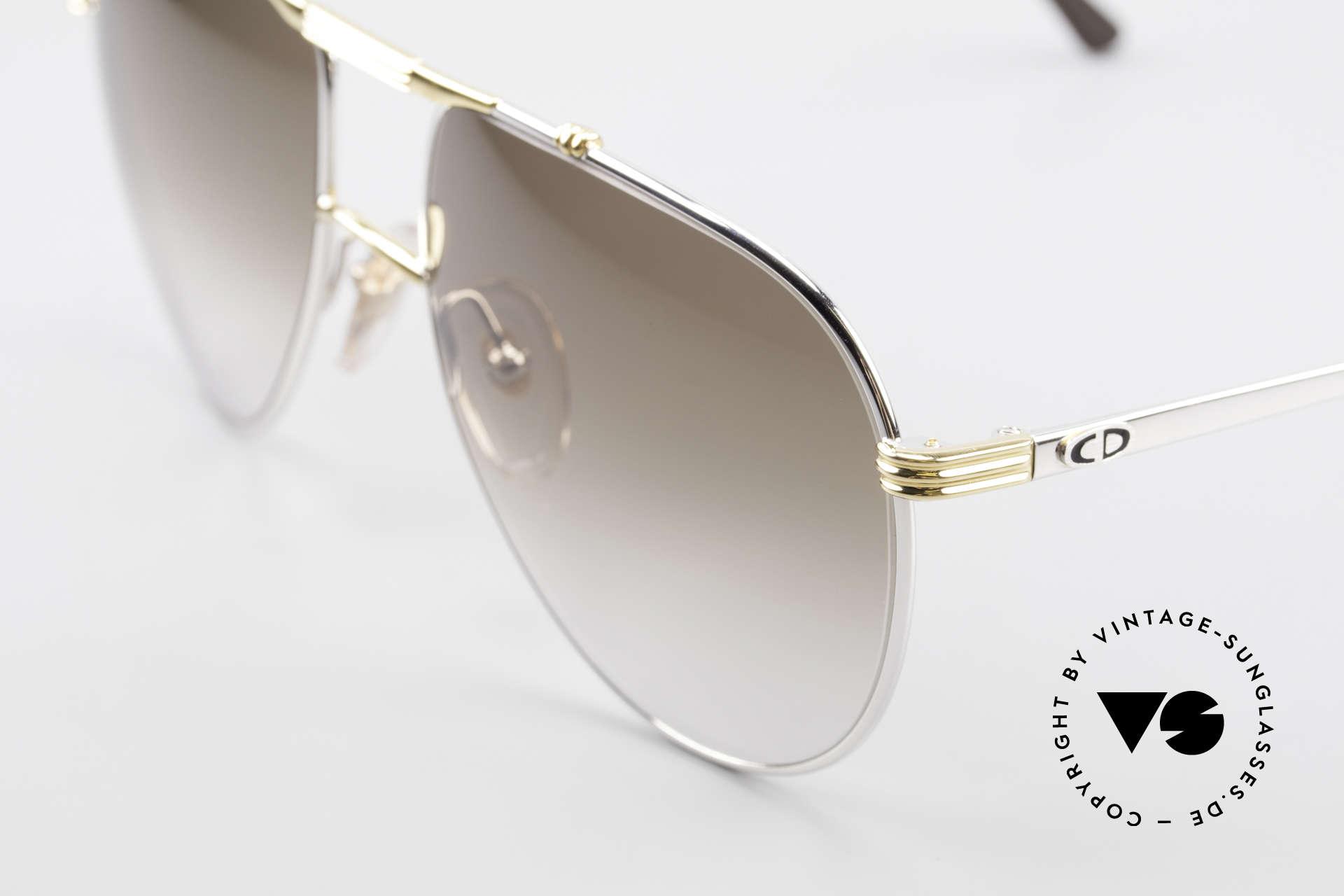 Christian Dior 2248 Large 80er Aviator Sonnenbrille, klassische Pilotenform in LARGE 58-17 (140mm breit), Passend für Herren