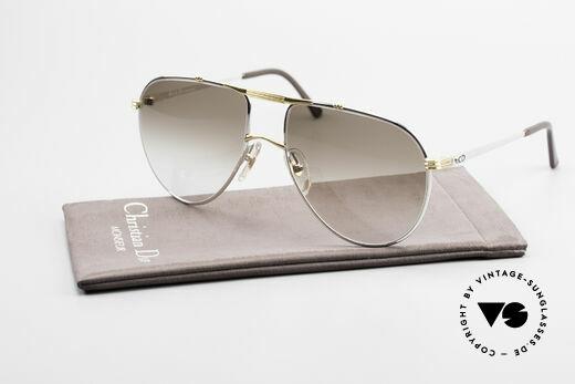 Christian Dior 2248 Large 80er Aviator Sonnenbrille, Sonnengläser in braun-Verlauf (100% UV Protection), Passend für Herren