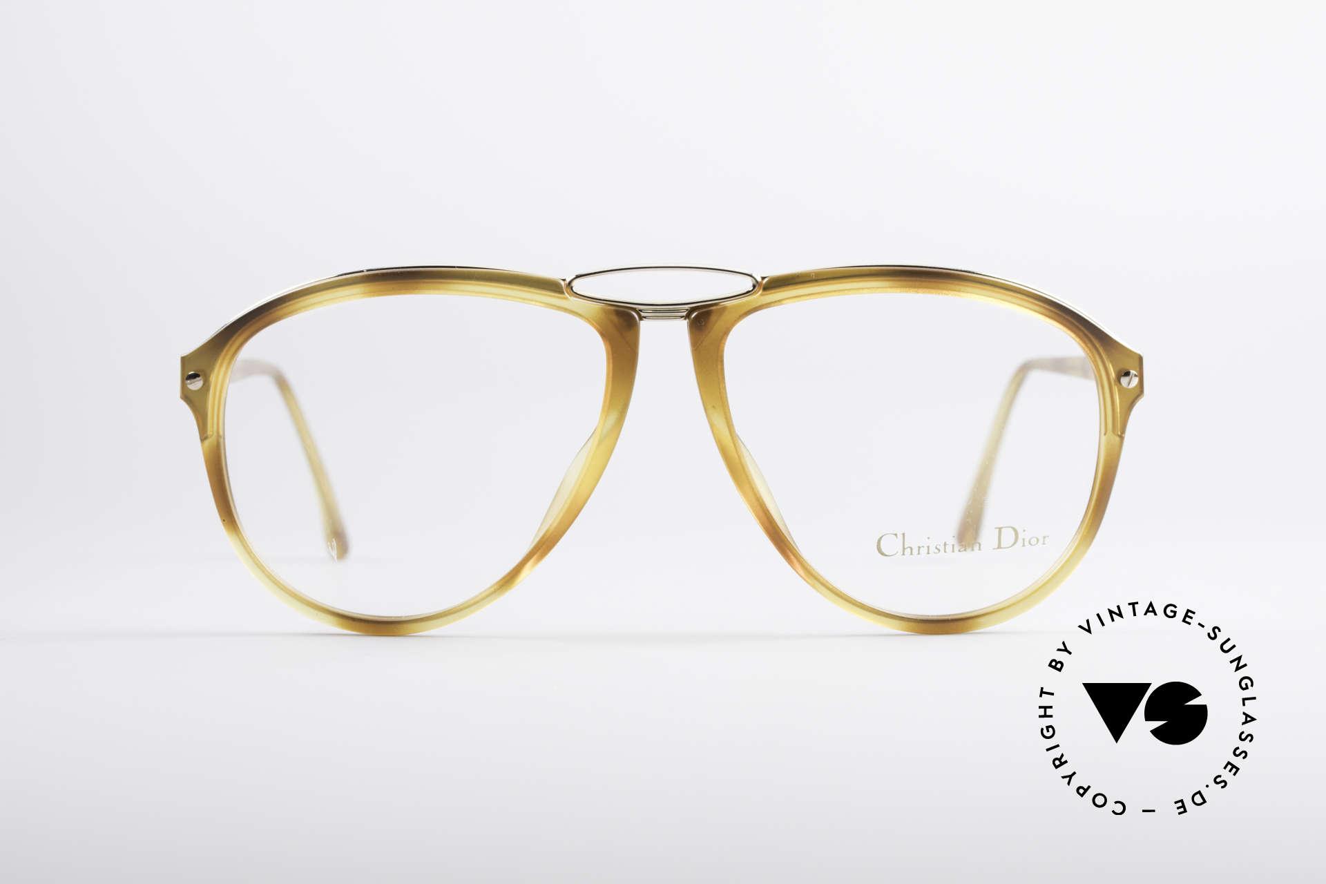 Christian Dior 2523 80er No Retrobrille Herren, eine echte Alternative zur gewöhnlichen 'Pilotenbrille', Passend für Herren