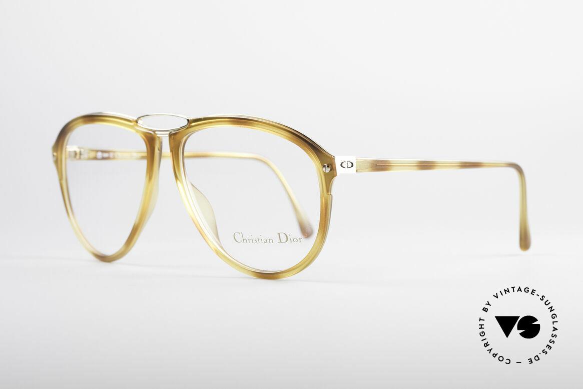 Christian Dior 2523 80er No Retrobrille Herren, leichter Kunststoffrahmen mit stabiler Metallbrücke, Passend für Herren