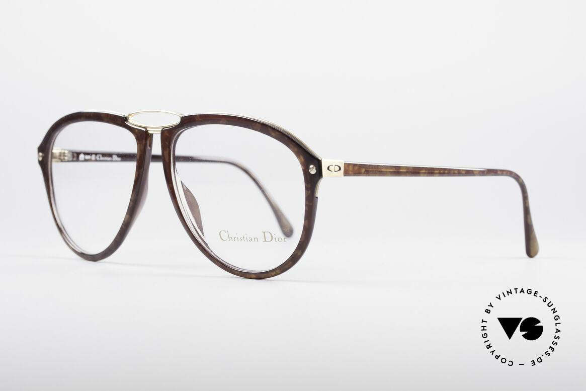 Christian Dior 2523 1980er No Retrobrille, leichter Kunststoffrahmen mit stabiler Metallbrücke, Passend für Herren