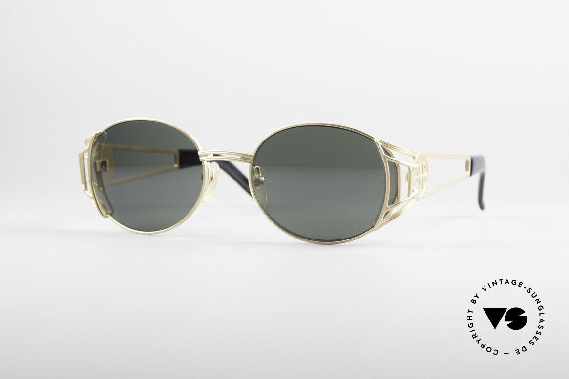 Jean Paul Gaultier 58-6102 Steampunk Designer Brille, hochwertiges & kreatives Jean Paul Gaultier Design, Passend für Herren und Damen