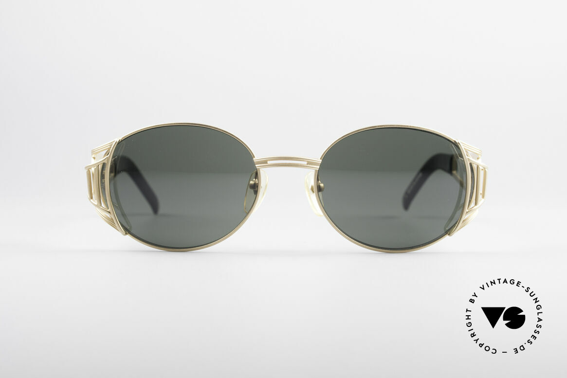 Jean Paul Gaultier 58-6102 Steampunk Designer Brille, matt-glänzende Designer-Sonnenbrille von 1997/98, Passend für Herren und Damen