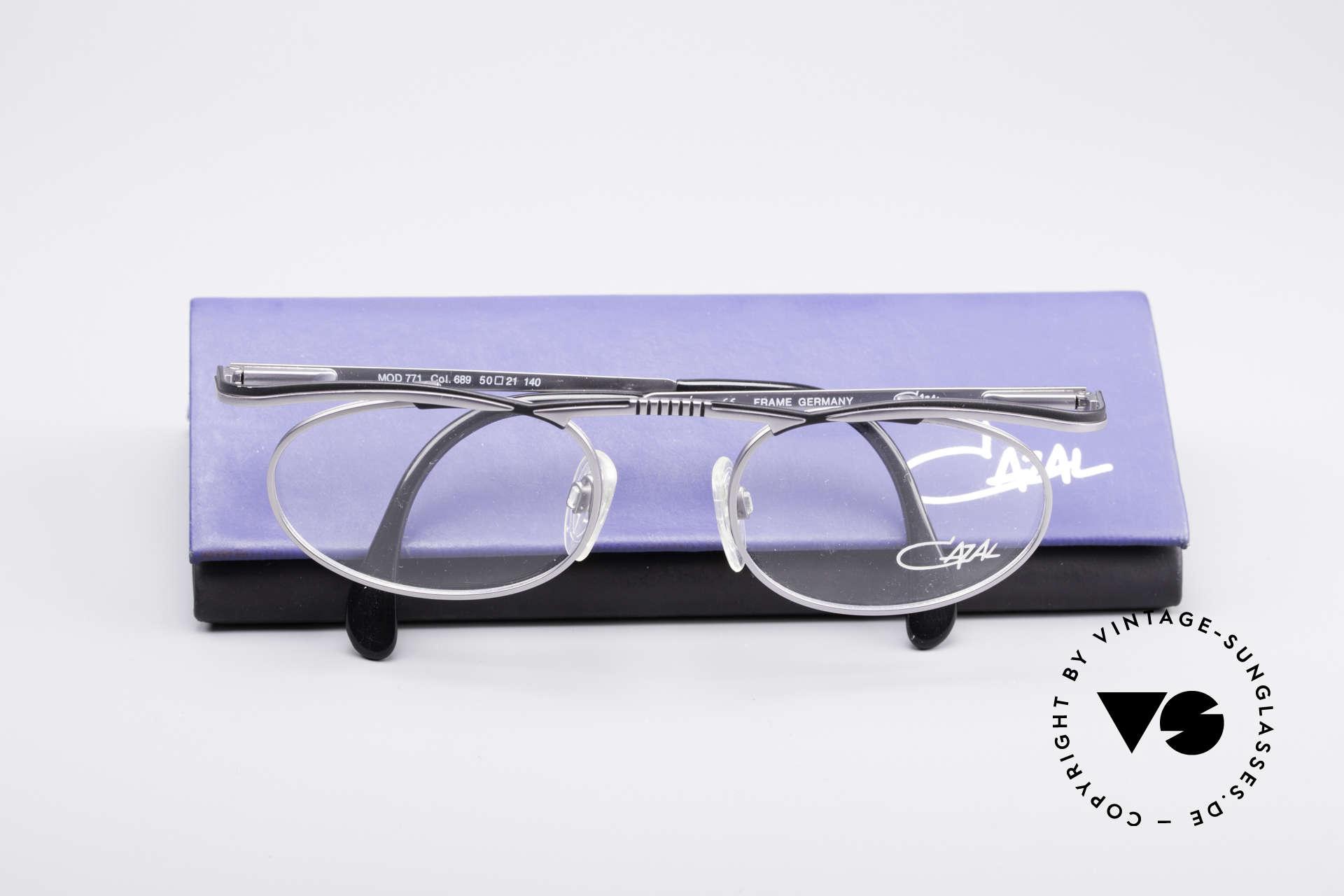 Cazal 771 90er Original KEINE Retrobrille, Fassung kann natürlich beliebig verglast werden, Passend für Herren und Damen