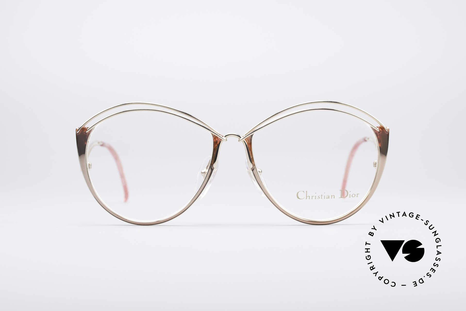Christian Dior 2535 90er Ladies Brille, wundervolle & schwungvolle Rahmengestaltung, Passend für Damen