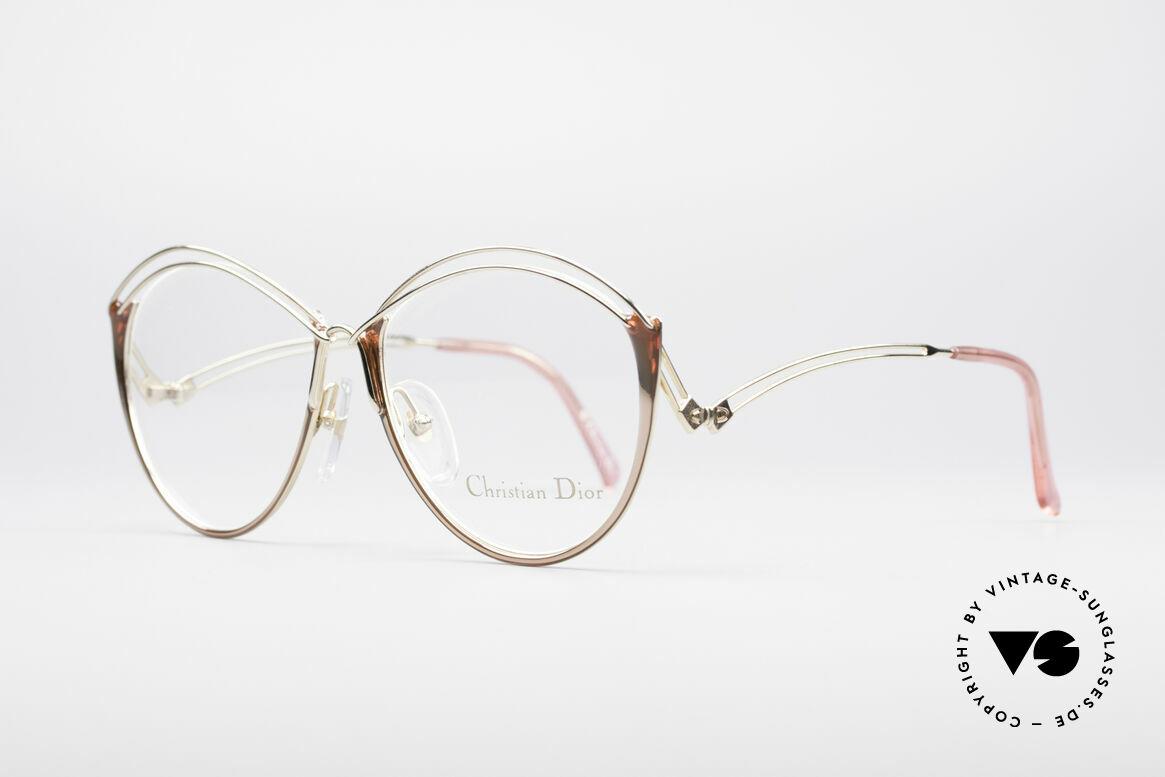 Christian Dior 2535 90er Ladies Brille, zudem dezent raffinierte Kolorierung in gold-pink, Passend für Damen