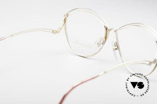 Christian Dior 2535 90er Ladies Brille, Metall-Fassung ist für Gläser jeglicher Art gemacht, Passend für Damen
