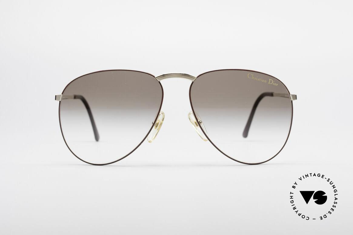 Christian Dior 2252 Seltene 80er Brille, modifizierte Pilotenform von 1983, Einzelstück!, Passend für Herren