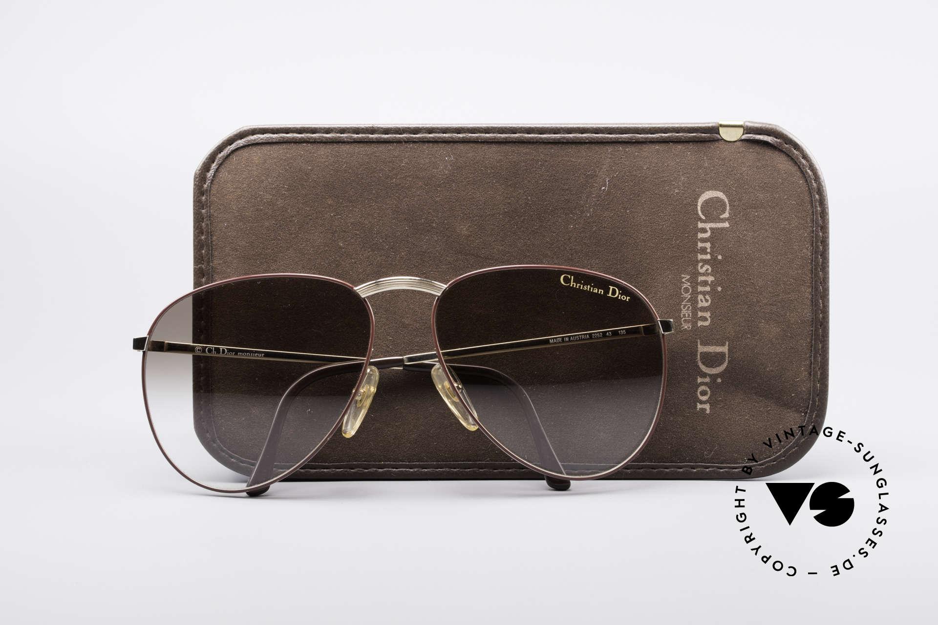 Christian Dior 2252 Seltene 80er Brille, Größe: large, Passend für Herren