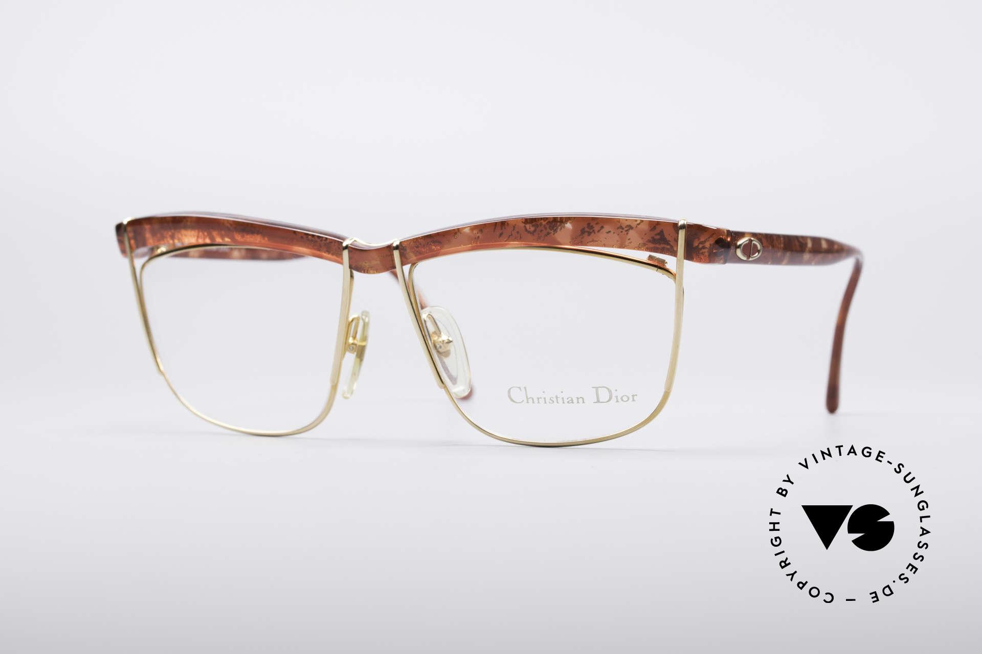 Christian Dior 2552 90er Vintage Brille, außergewöhnliche Dior Brillenfassung von 1990, Passend für Damen