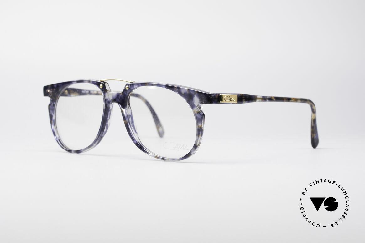 Cazal 645 Außergewöhnliche Vintage Brille, Kolorierung in einer Art transparent-blauem Marmor, Passend für Herren