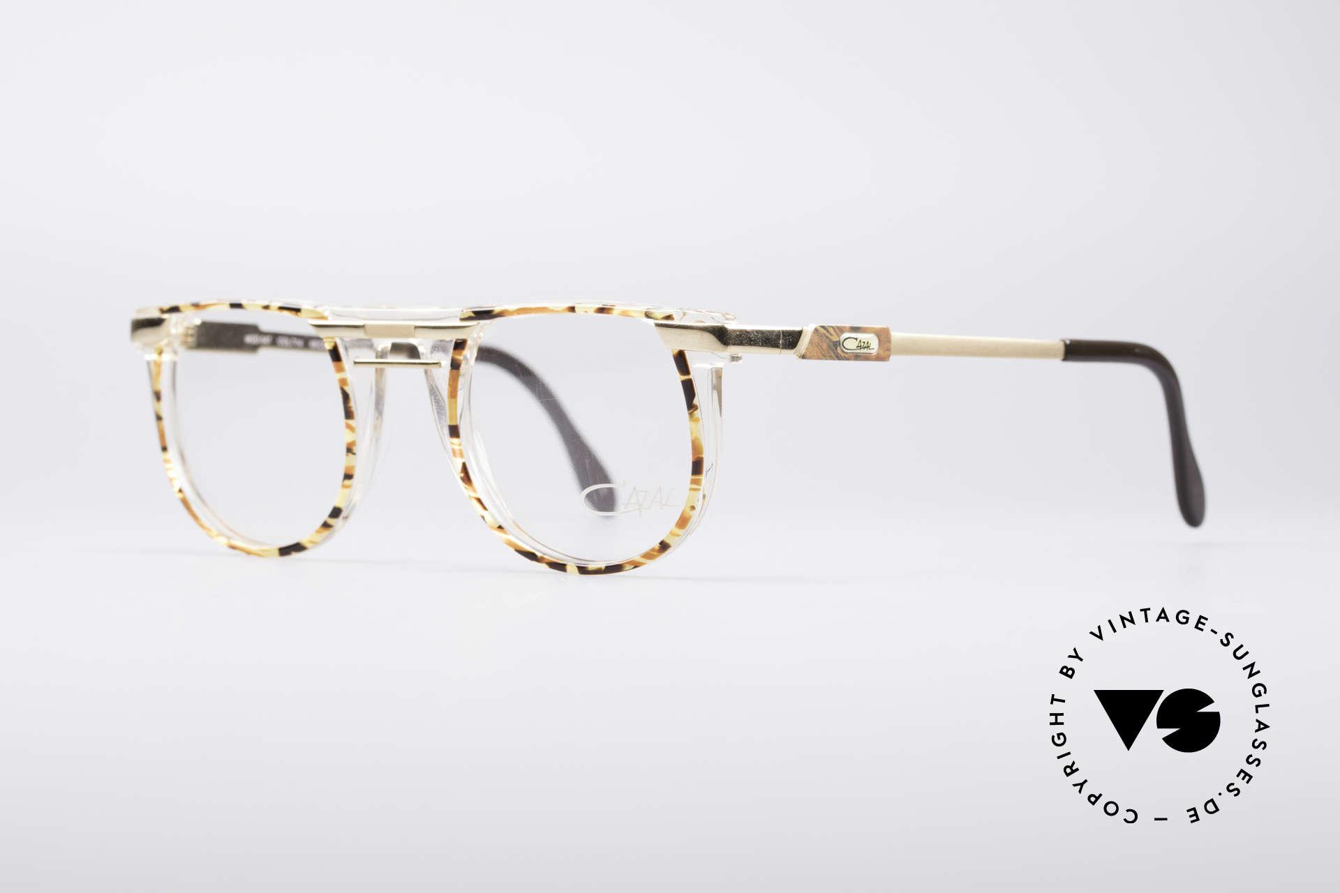Cazal 647 90er Vintage Designerbrille, geniale Kombination v. Farben/Formen/Materialien, Passend für Herren und Damen