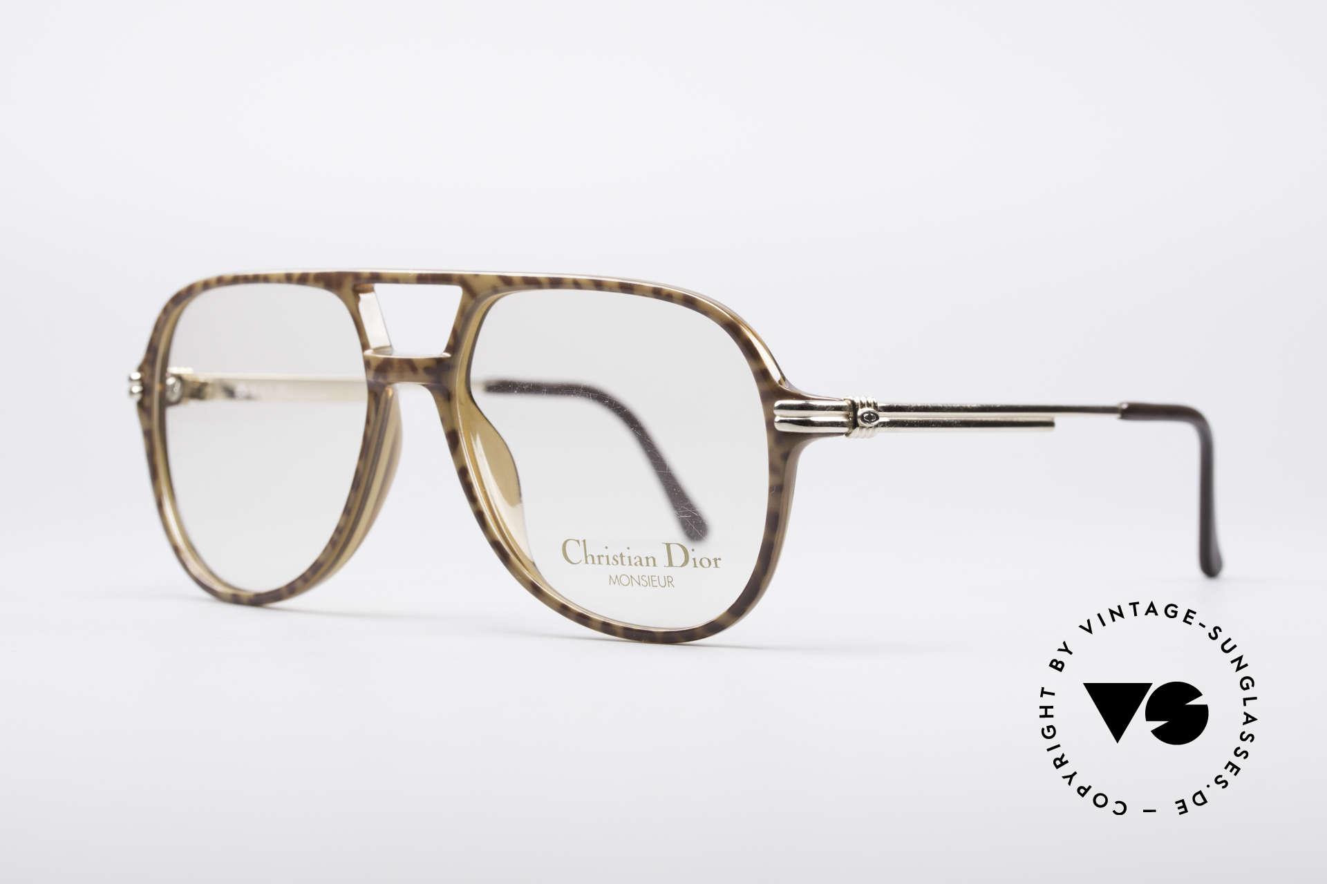 Christian Dior 2301 80er Optyl Brille Monsieur, karamell-braune Front aus leichtem Optyl-Material, Passend für Herren