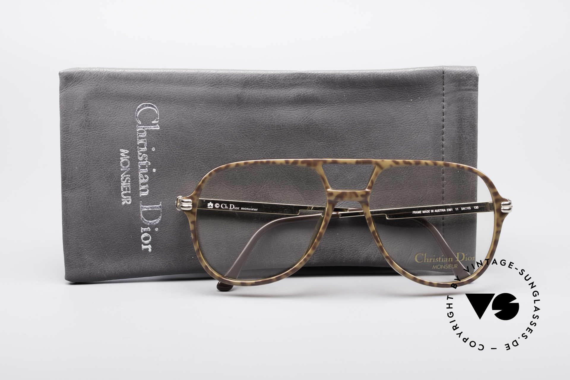 Christian Dior 2301 80er Optyl Brille Monsieur, KEINE Retrobrille; ein über 30 Jahre altes Unikat!, Passend für Herren