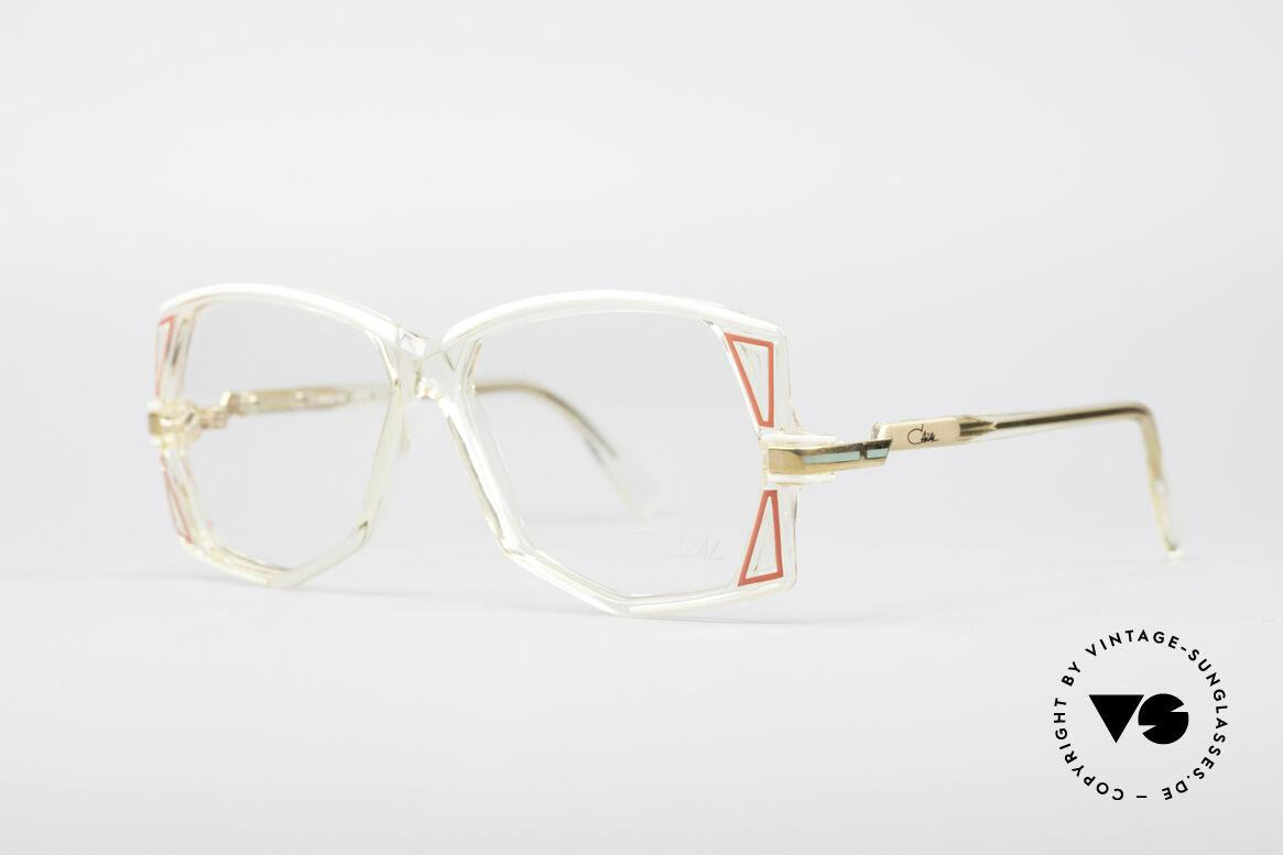 Cazal 172 Kristallklare 80er Brille, charakteristisch für die damalige CAZAL 100er Serie, Passend für Damen