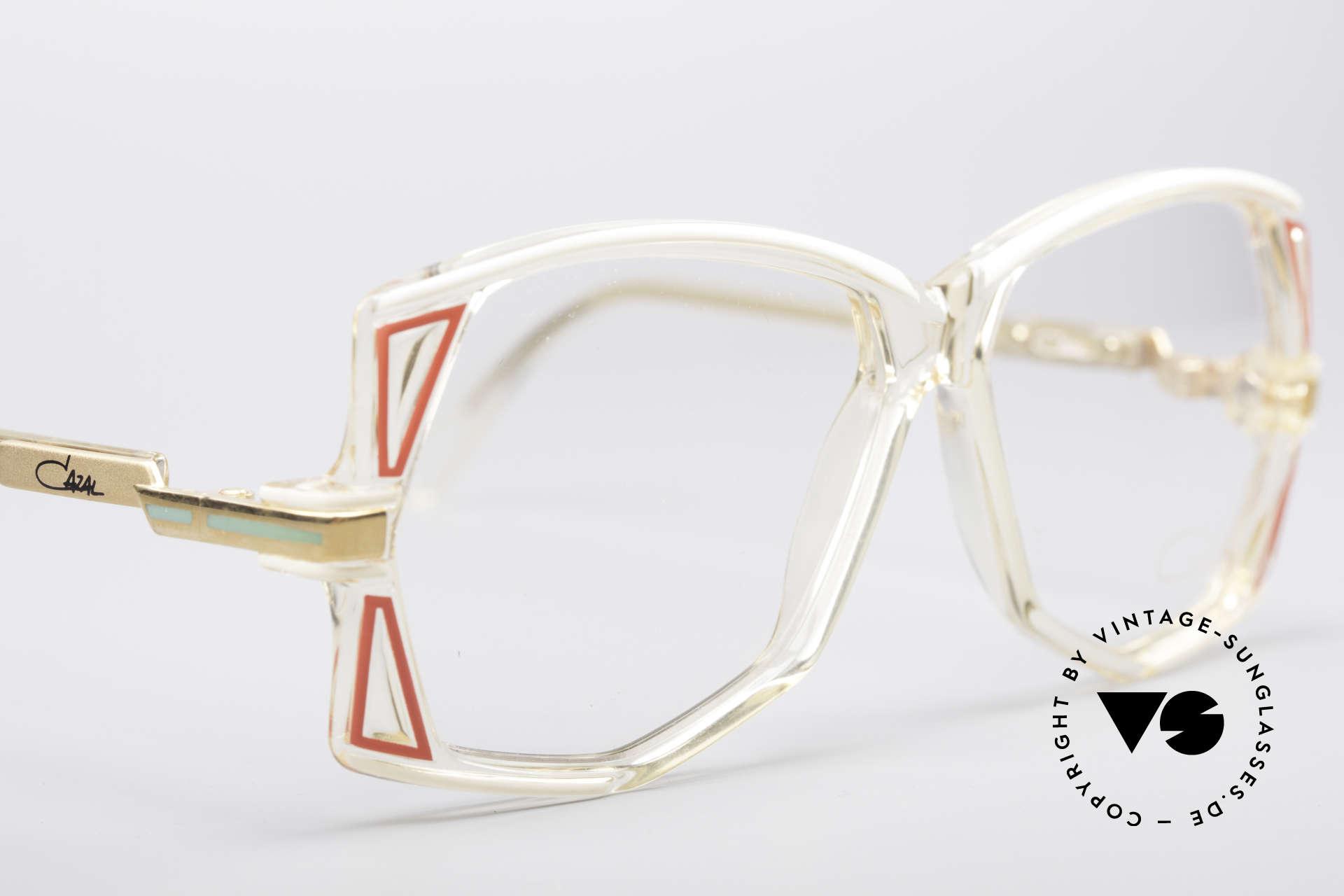 Cazal 172 Kristallklare 80er Brille, KEINE RETRObrille; sondern ein Original von 1987!!, Passend für Damen